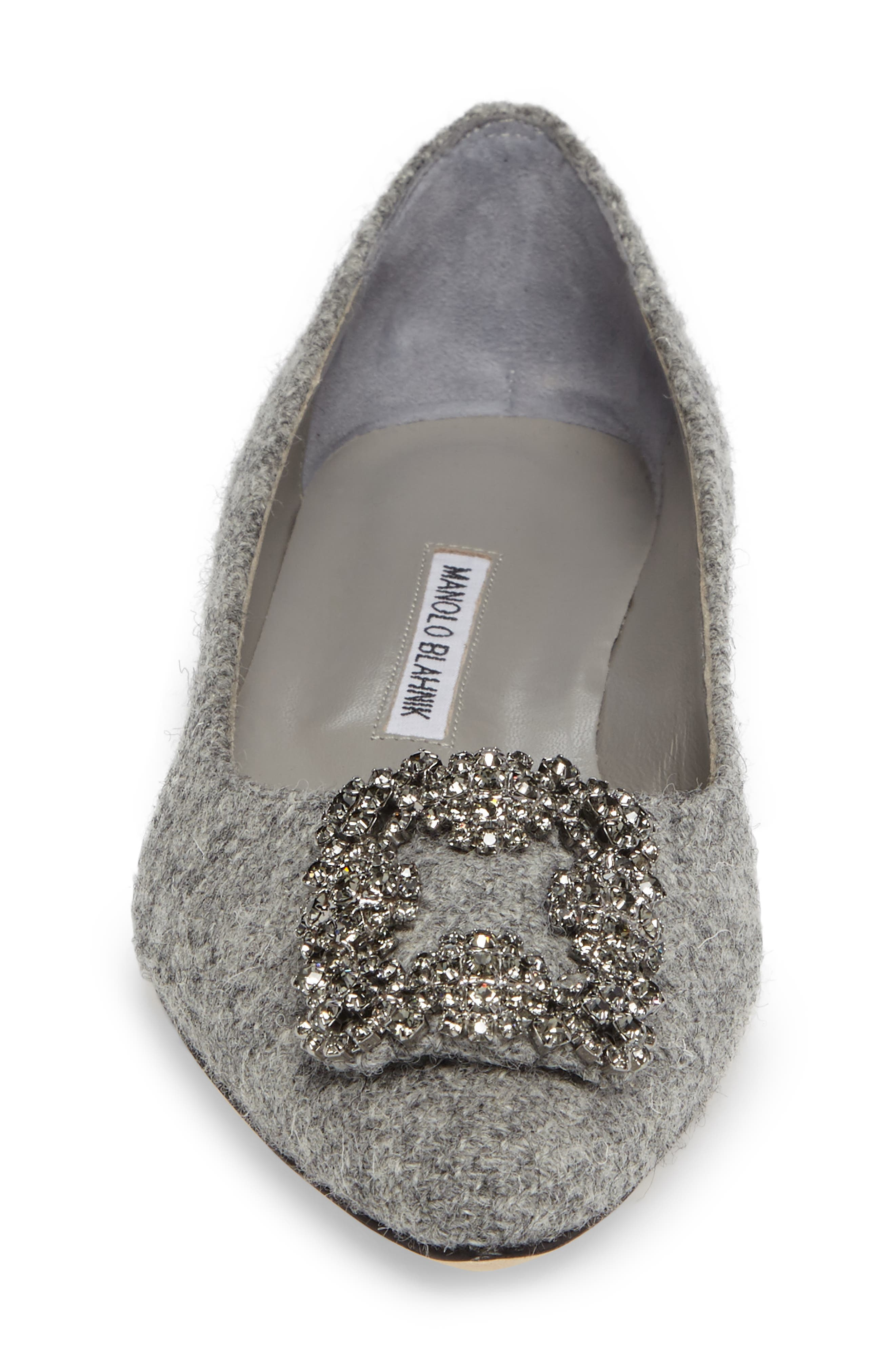 Alternate Image 4  - Manolo Blahnik 'Hangisi' Jeweled Pointy Toe Flat (Women)
