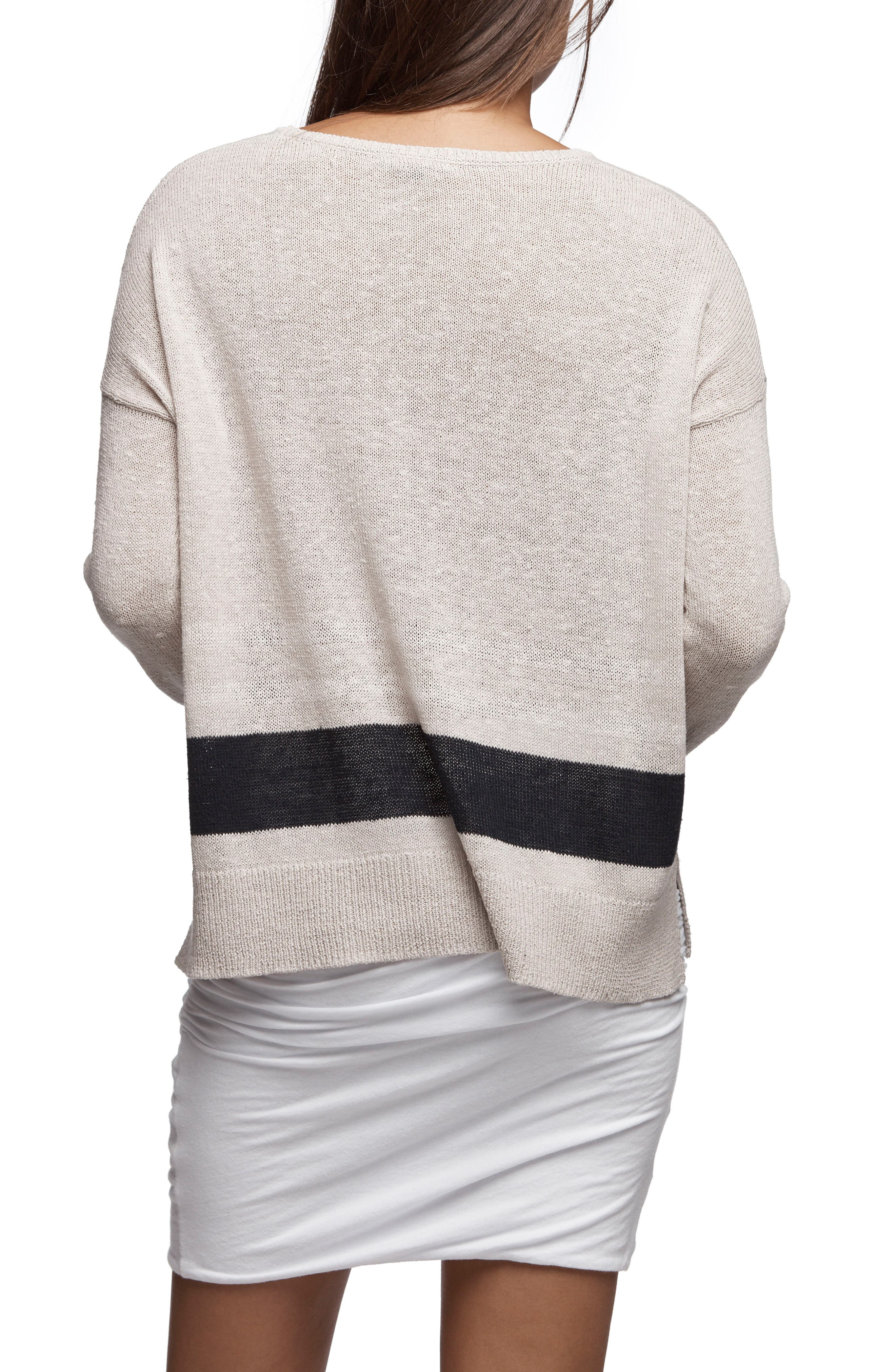 Alternate Image 2  - James Perse Stripe Oversize Silk Blend Sweater