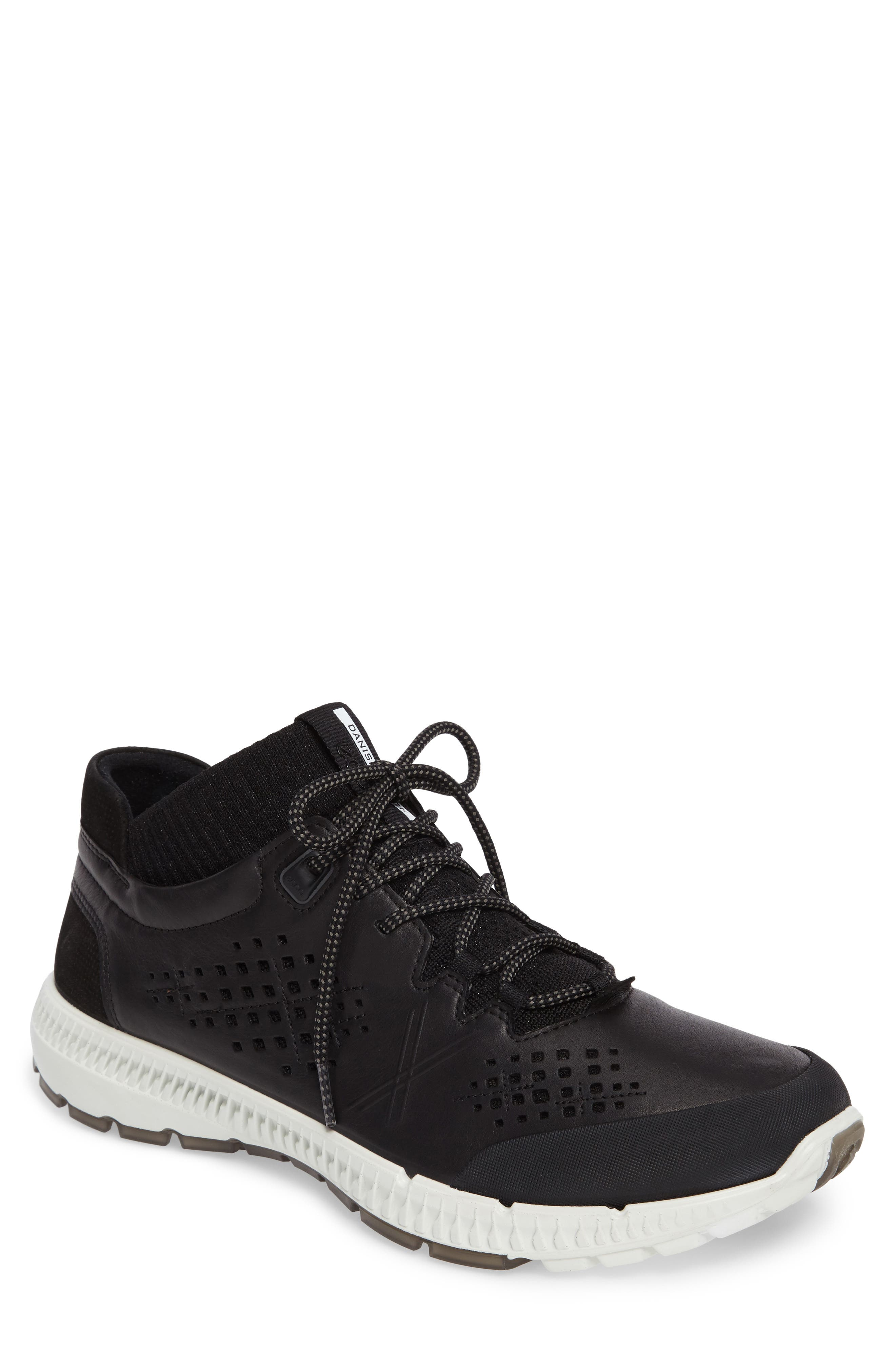 Intrinsic Mid Sneaker,                         Main,                         color, Black Leather