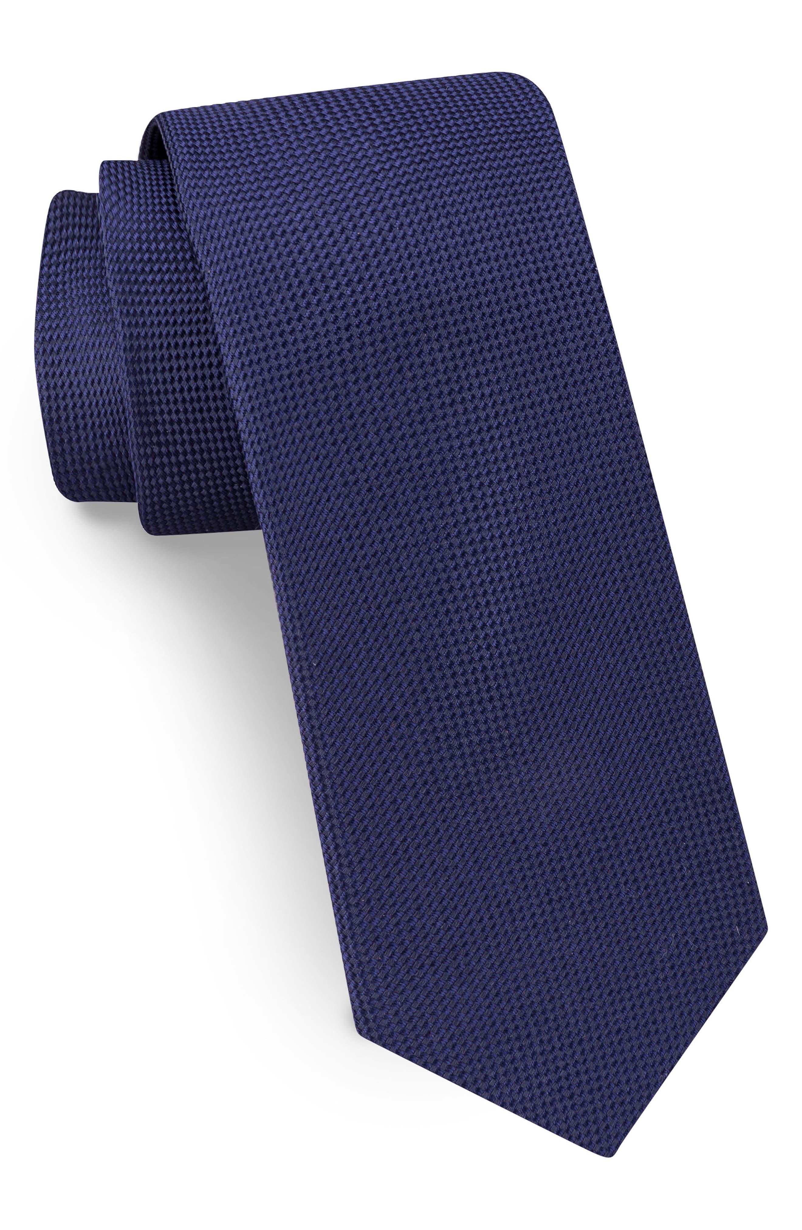 Main Image - Ted Baker London Solid Skinny Silk Tie