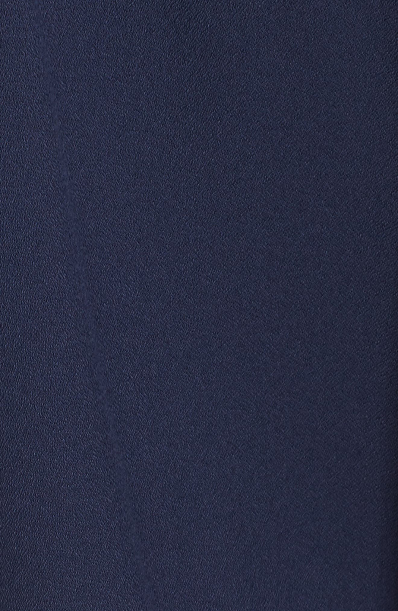 Aubra Embroidered Shift Dress,                             Alternate thumbnail 5, color,                             True Navy