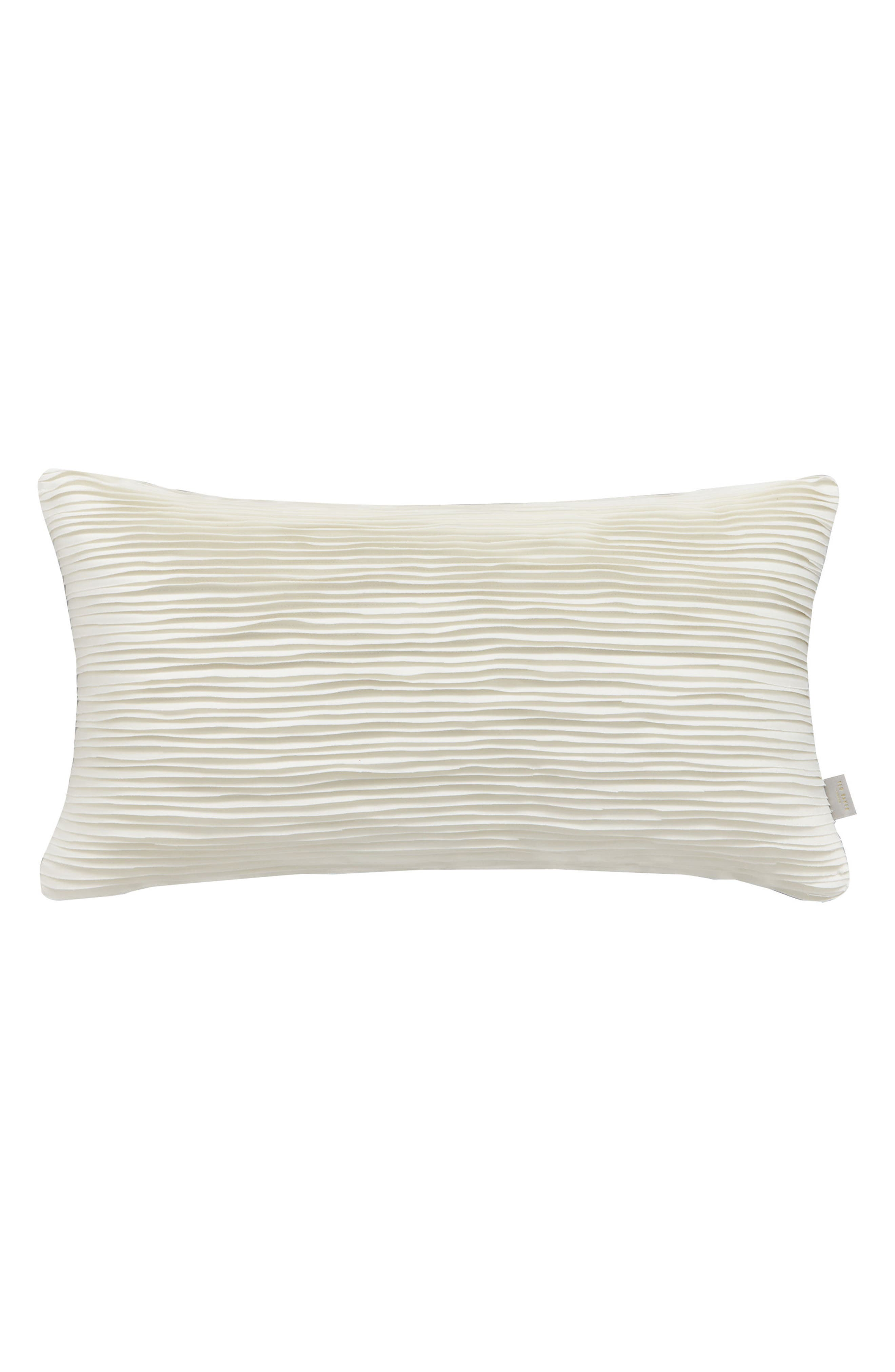 Frayed Accent Pillow,                             Main thumbnail 1, color,                             Ivory