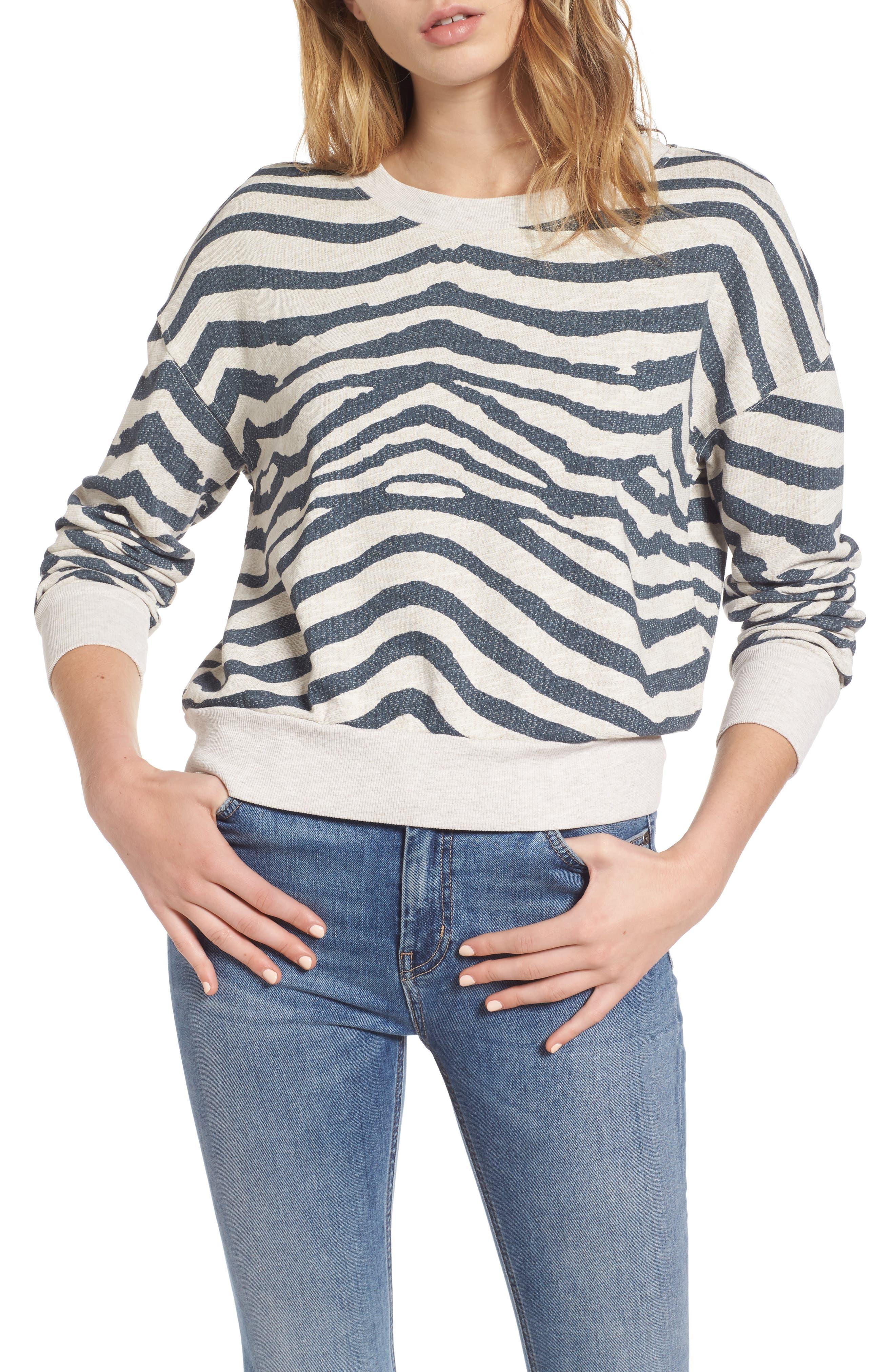 SPLENDID Zebra Print Sweatshirt