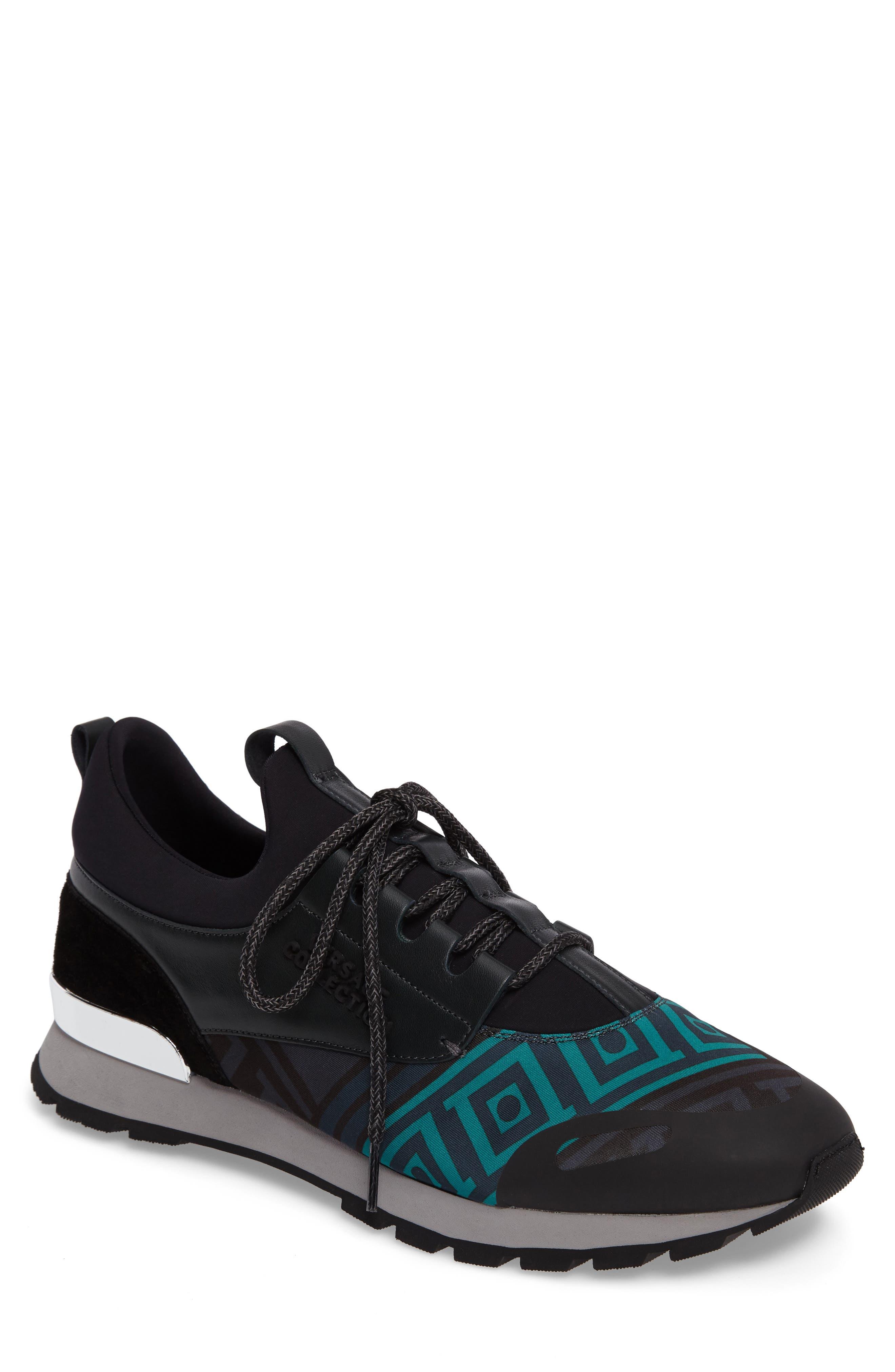 Versace Collection Geometric Sock Sneaker (Men)