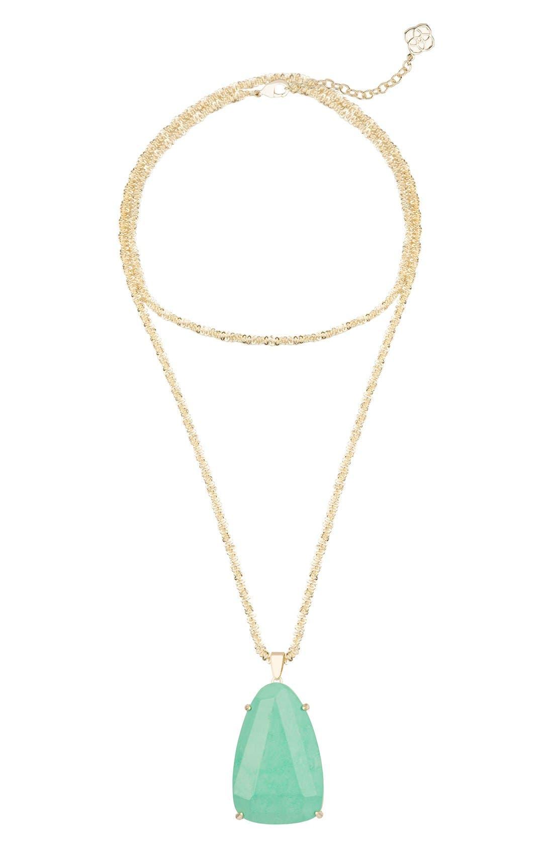 Alternate Image 1 Selected - Kendra Scott 'Sandra' Long Pendant Necklace