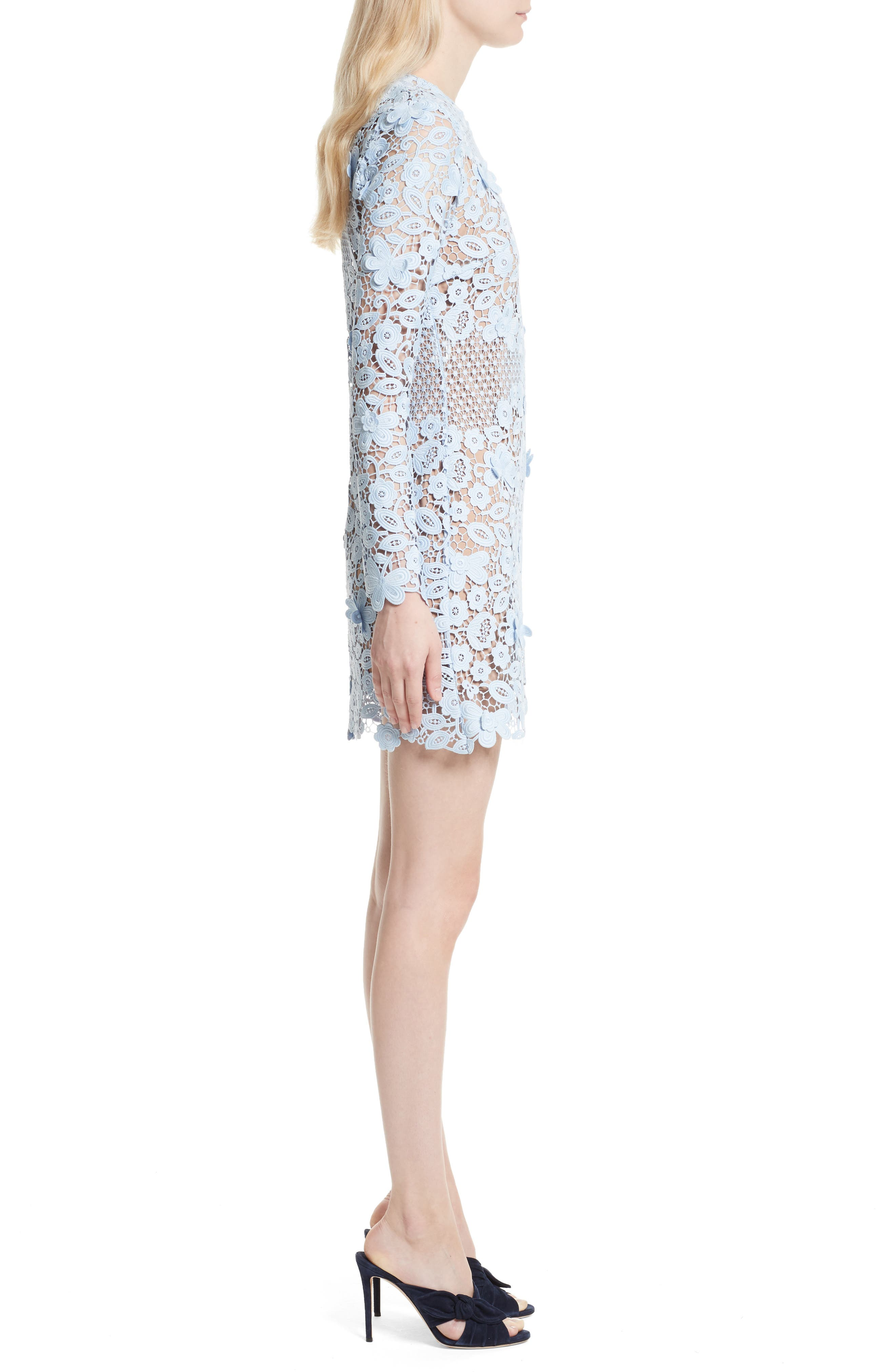 Alternate Image 3  - Self-Portrait 3D Floral Minidress