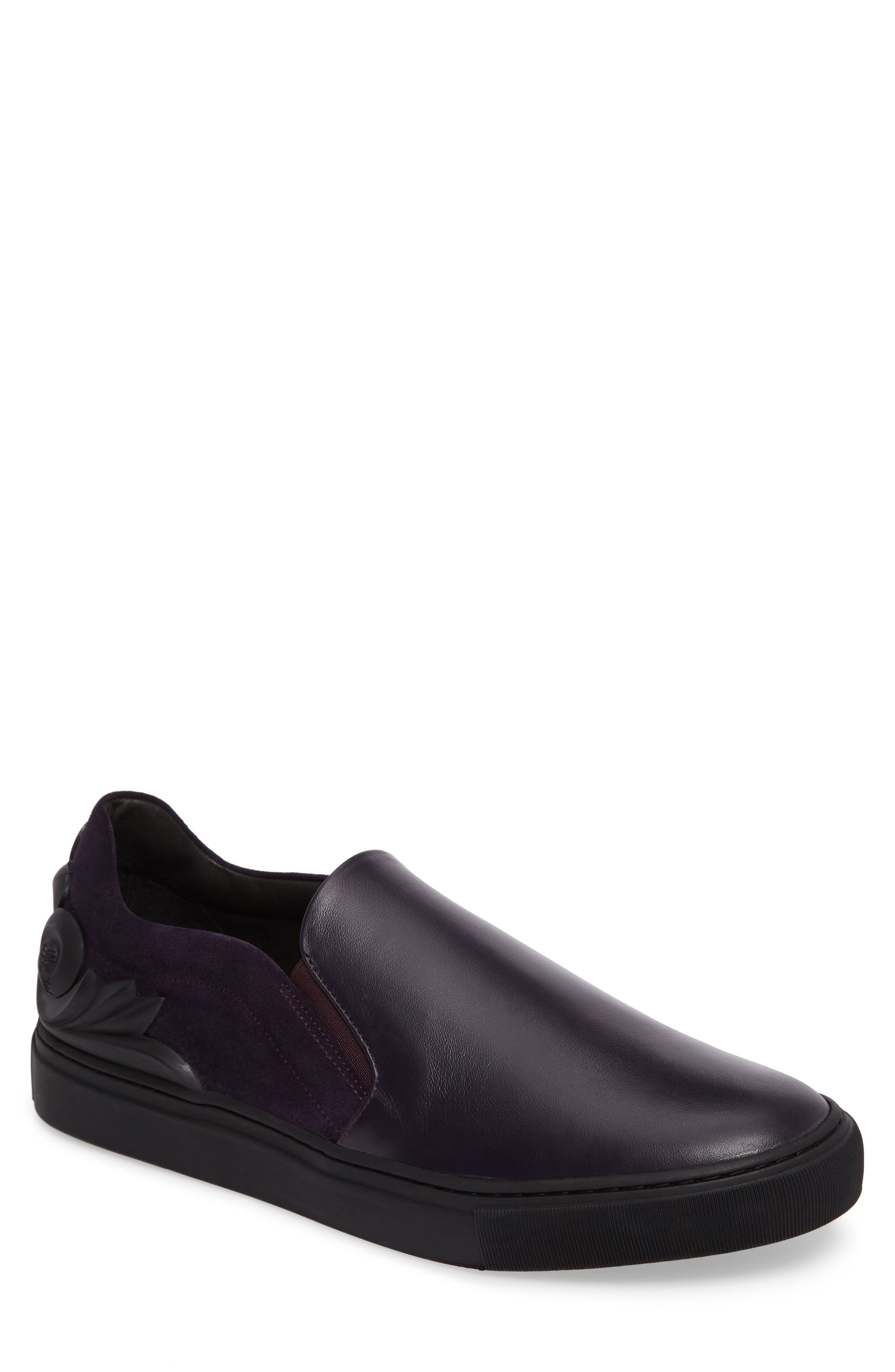 Collection Baroque Slip-On,                             Main thumbnail 1, color,                             Must/ Nikel Leather