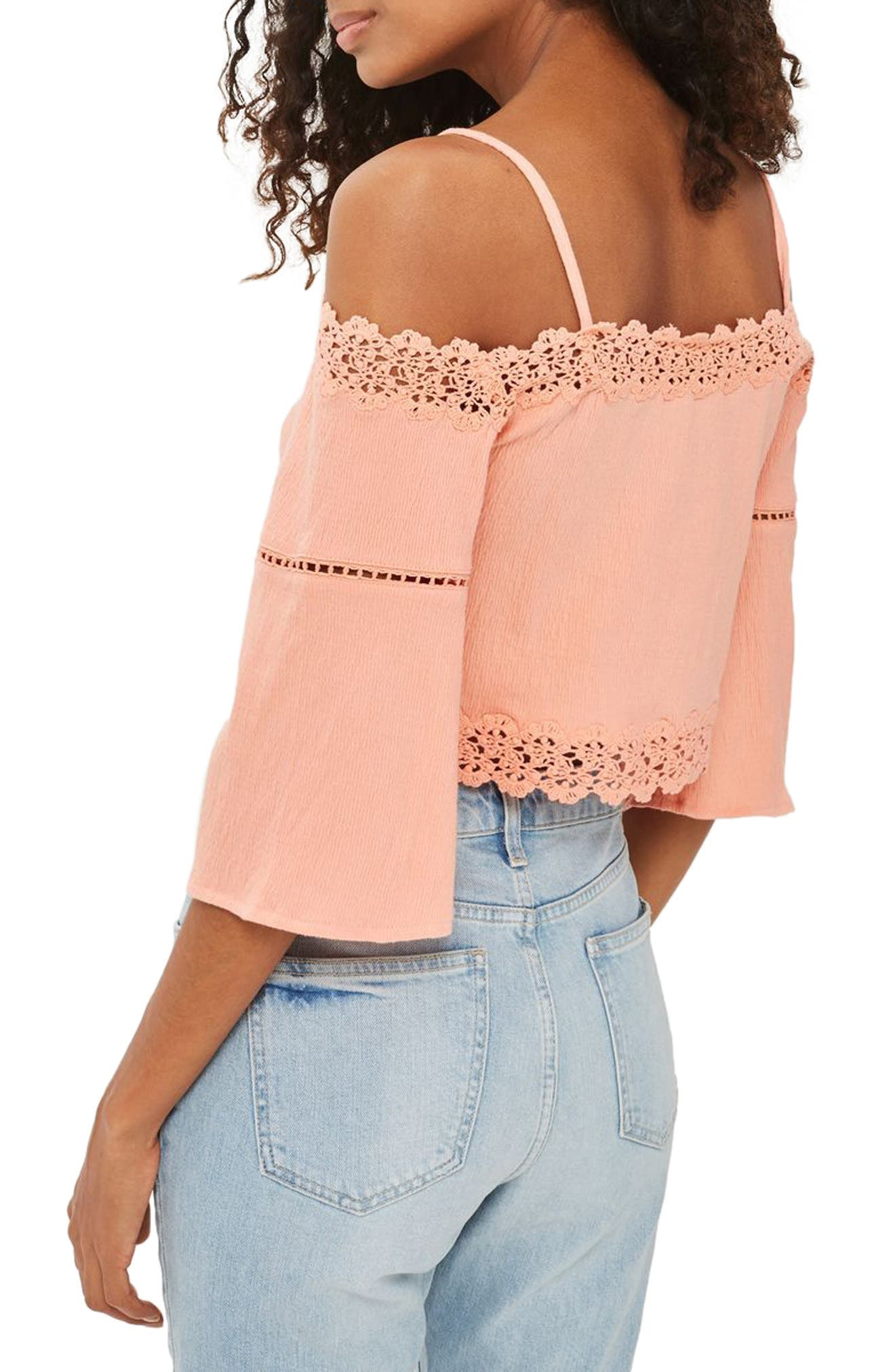 Alternate Image 2  - Topshop Cold Shoulder Top