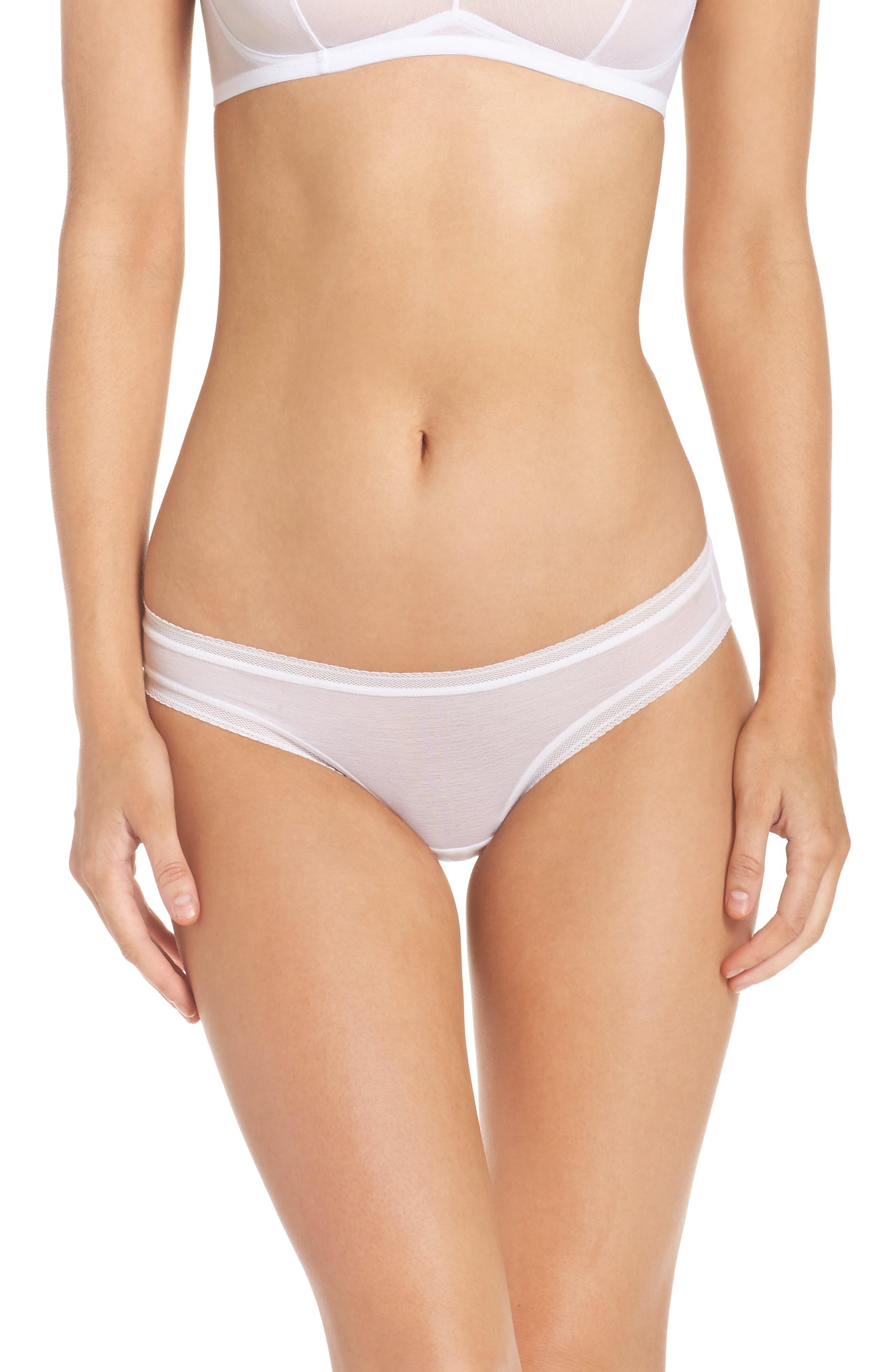 Alternate Image 1 Selected - On Gossamer Mesh Bikini