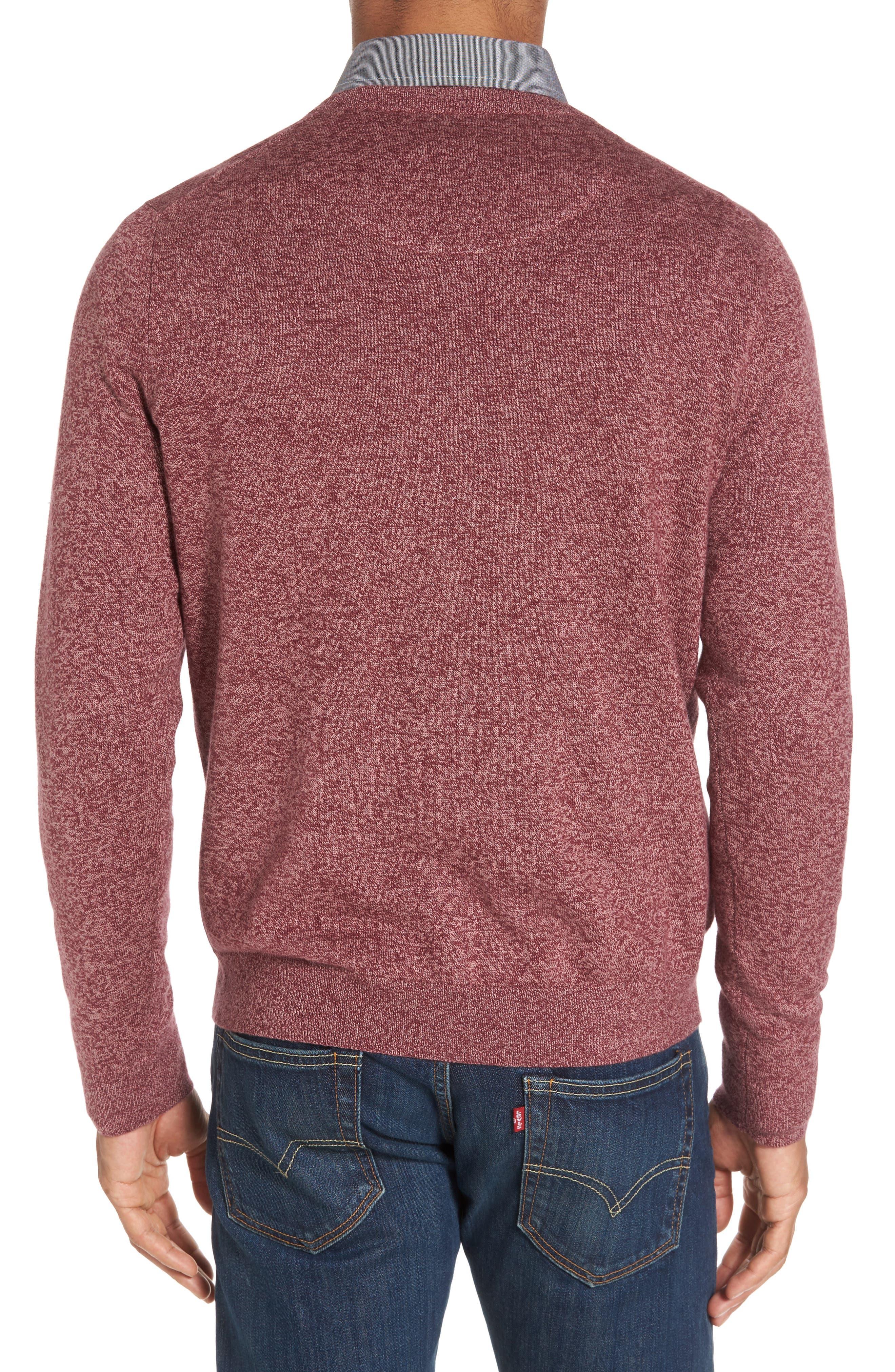 Alternate Image 2  - Nordstrom Men's Shop Cotton & Cashmere V-Neck Sweater (Regular & Tall)