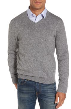 Mens Grey Cashmere Sweaters Crewneck V Neck Nordstrom