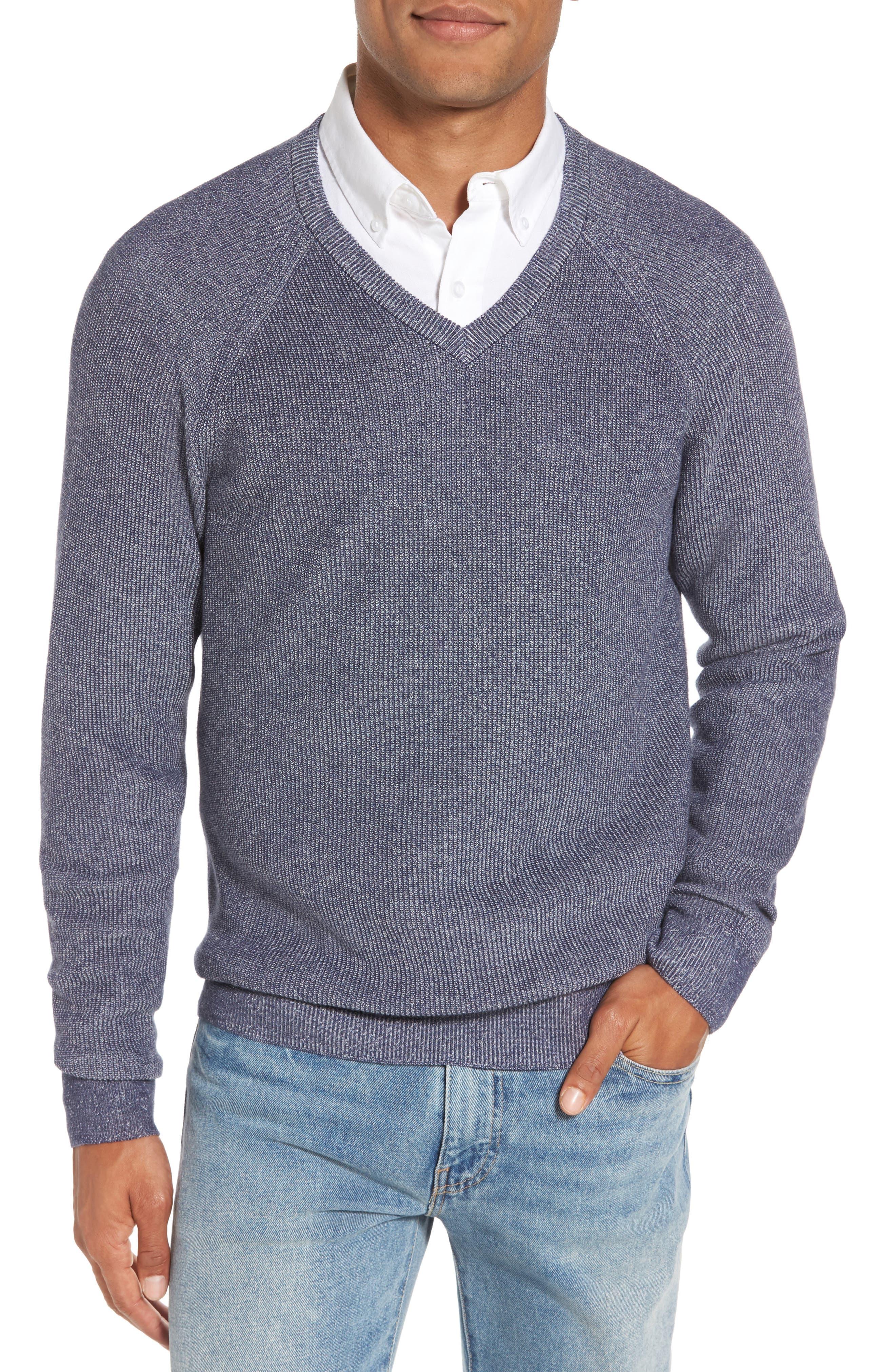 Alternate Image 1 Selected - Nordstrom Men's Shop Supima® Cotton V-Neck Sweater