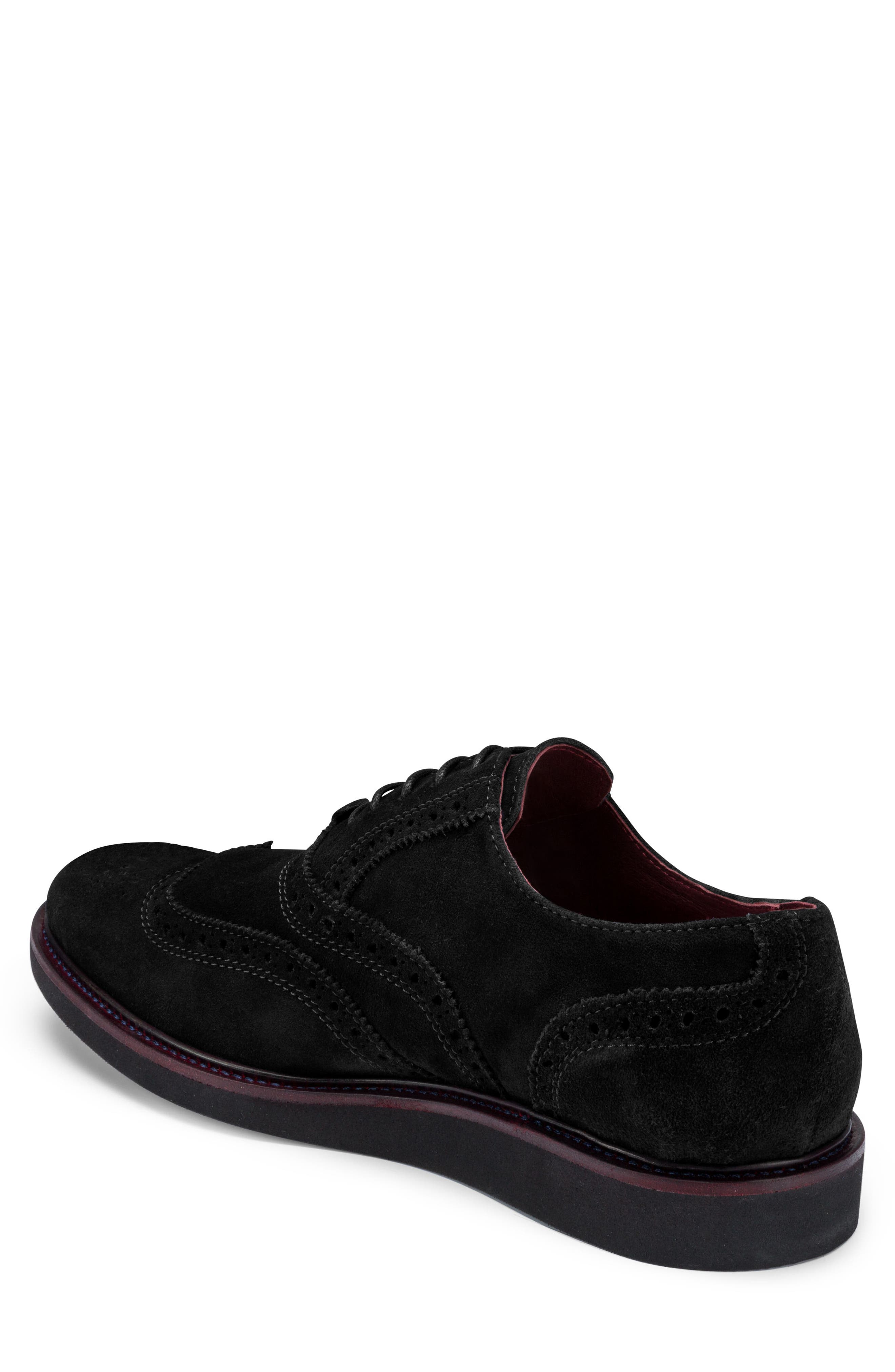 Siena Wingtip,                             Alternate thumbnail 2, color,                             Nero Suede