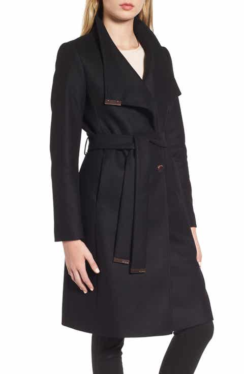 Women's Black Wool & Wool-Blend Coats | Nordstrom