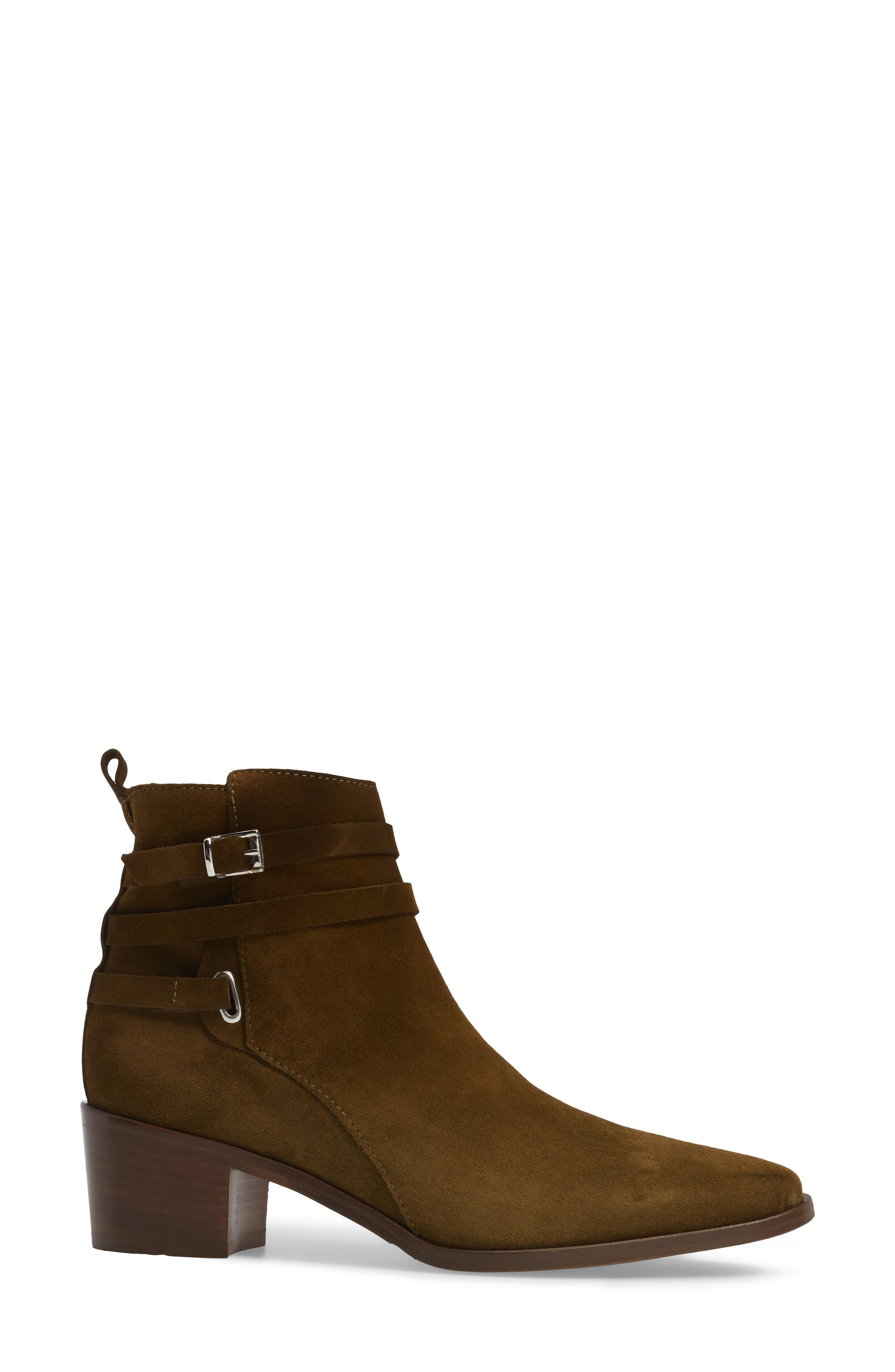 Hunter Bootie,                             Alternate thumbnail 3, color,                             Khaki Suede