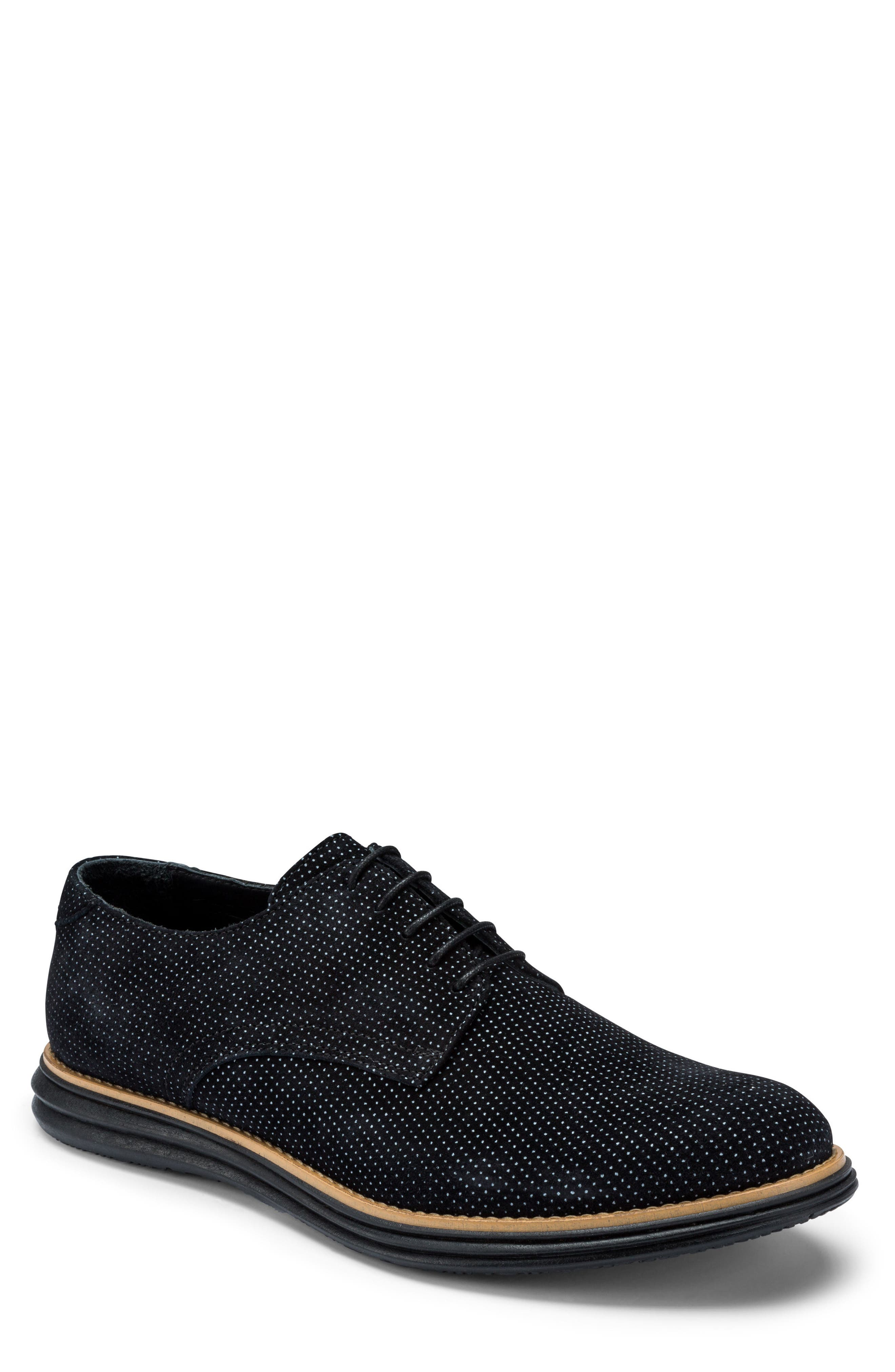 Manarola Dot Pattern Derby,                             Main thumbnail 1, color,                             Nero Suede