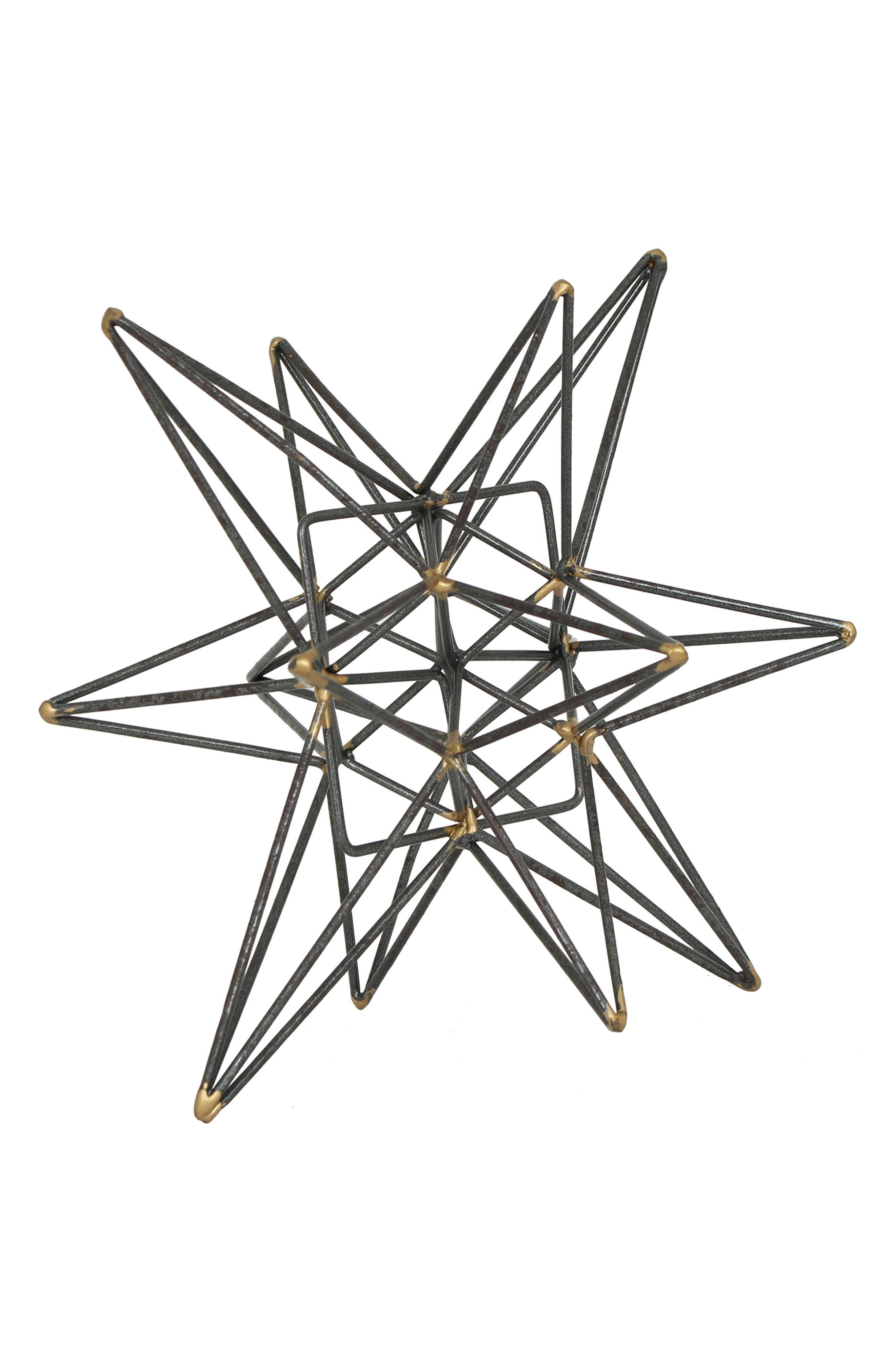 Metal Star Tabletop Decoration,                             Main thumbnail 1, color,                             Bronze