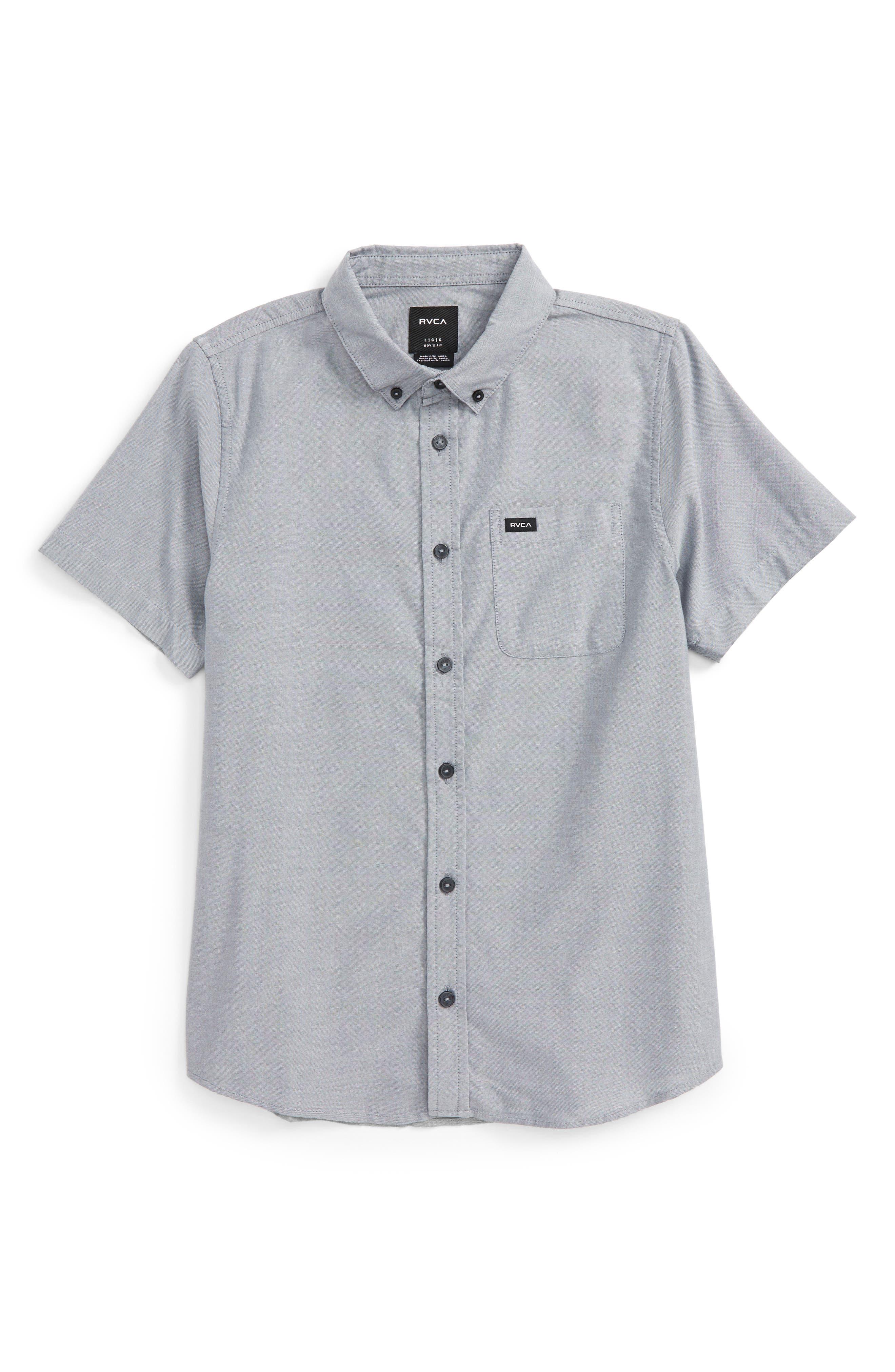 'That'll Do' Woven Shirt,                             Main thumbnail 1, color,                             Pavement