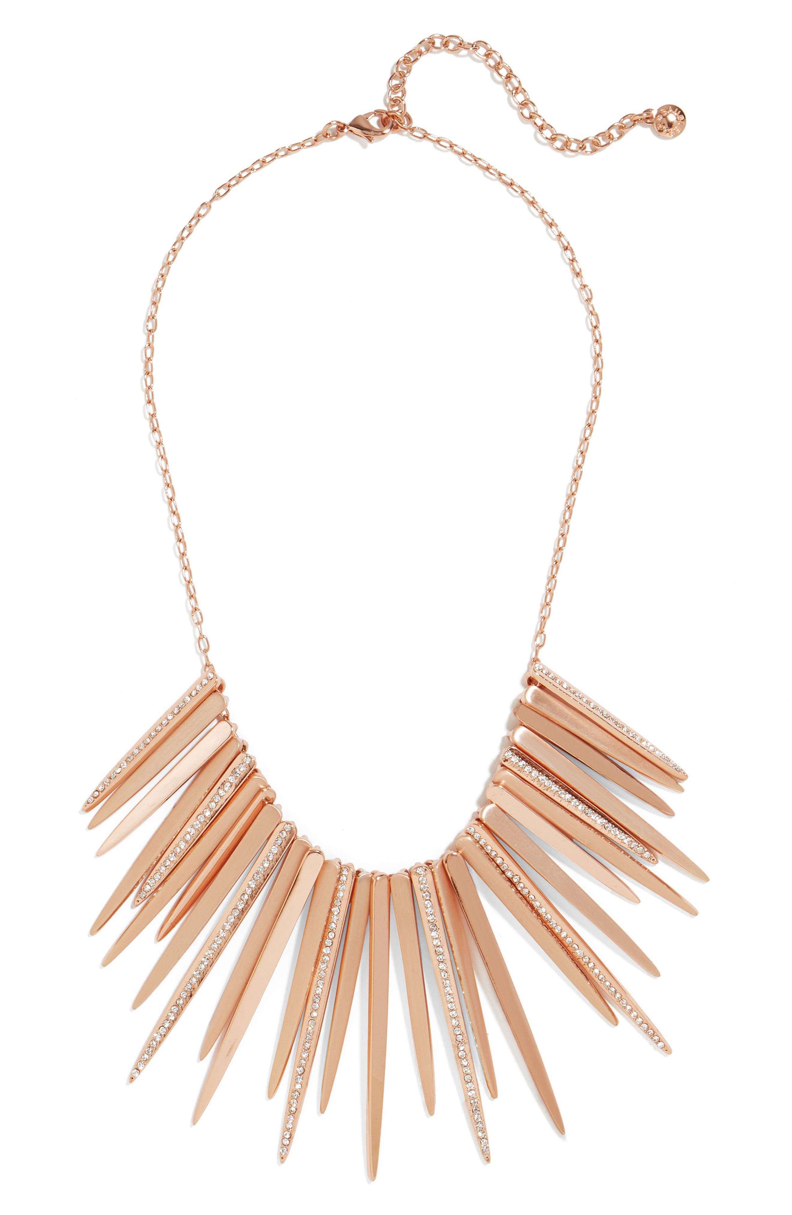 Arisa Statement Necklace,                         Main,                         color, Rose Gold