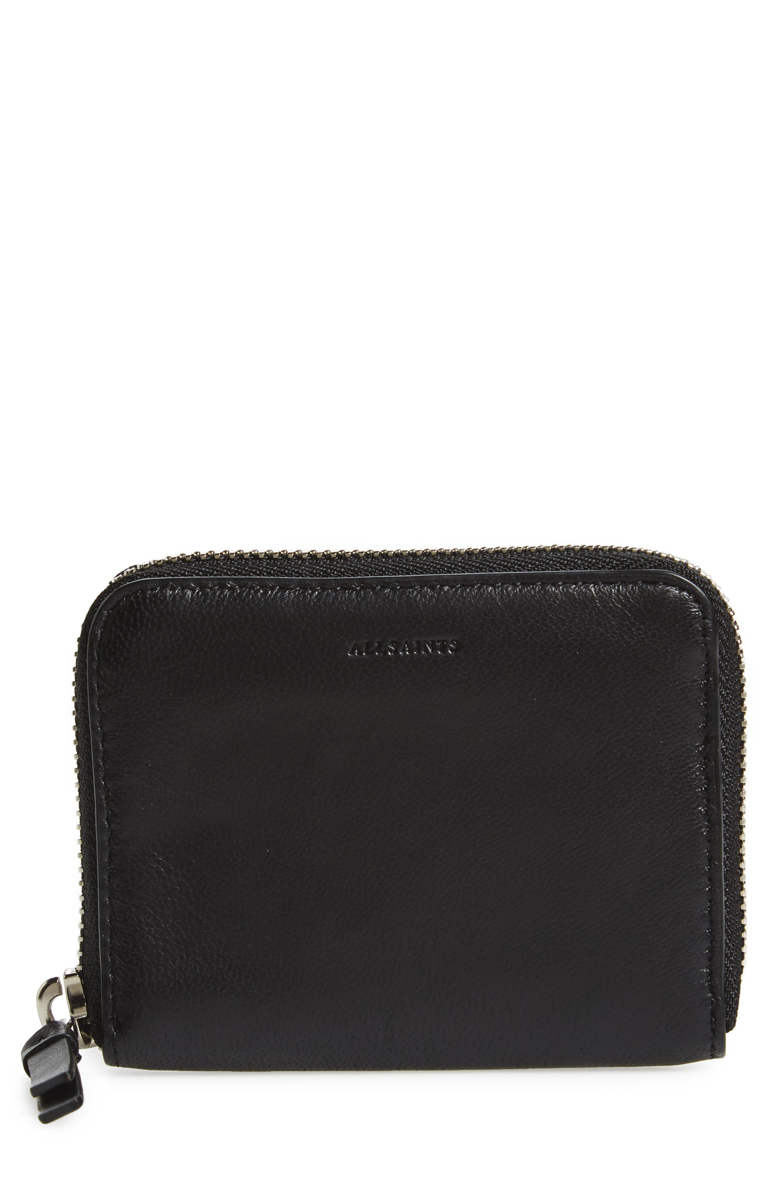 Kanda Mini Zip Wallet,                             Main thumbnail 1, color,                             Black