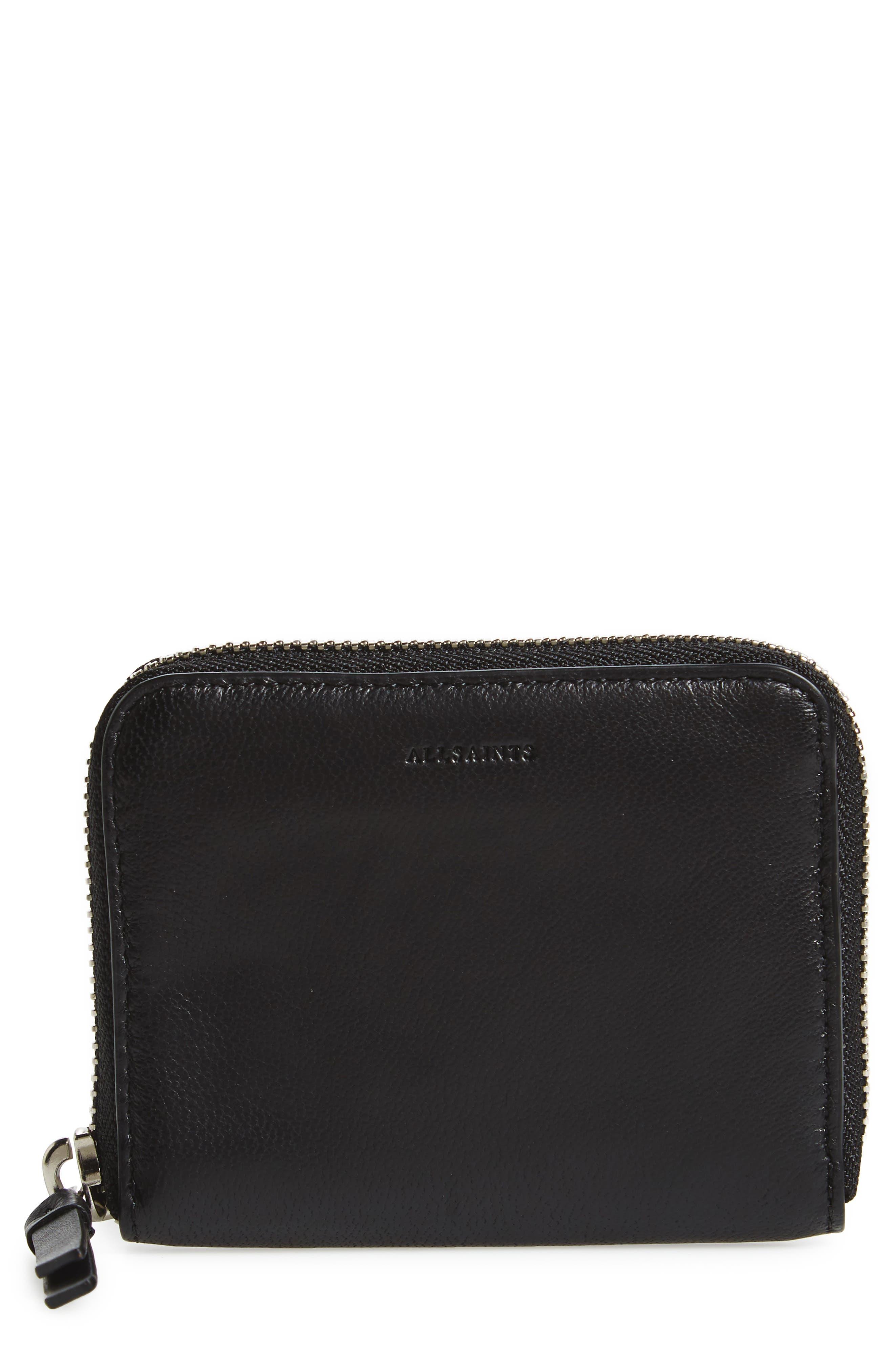Main Image - ALLSAINTS Kanda Mini Zip Wallet