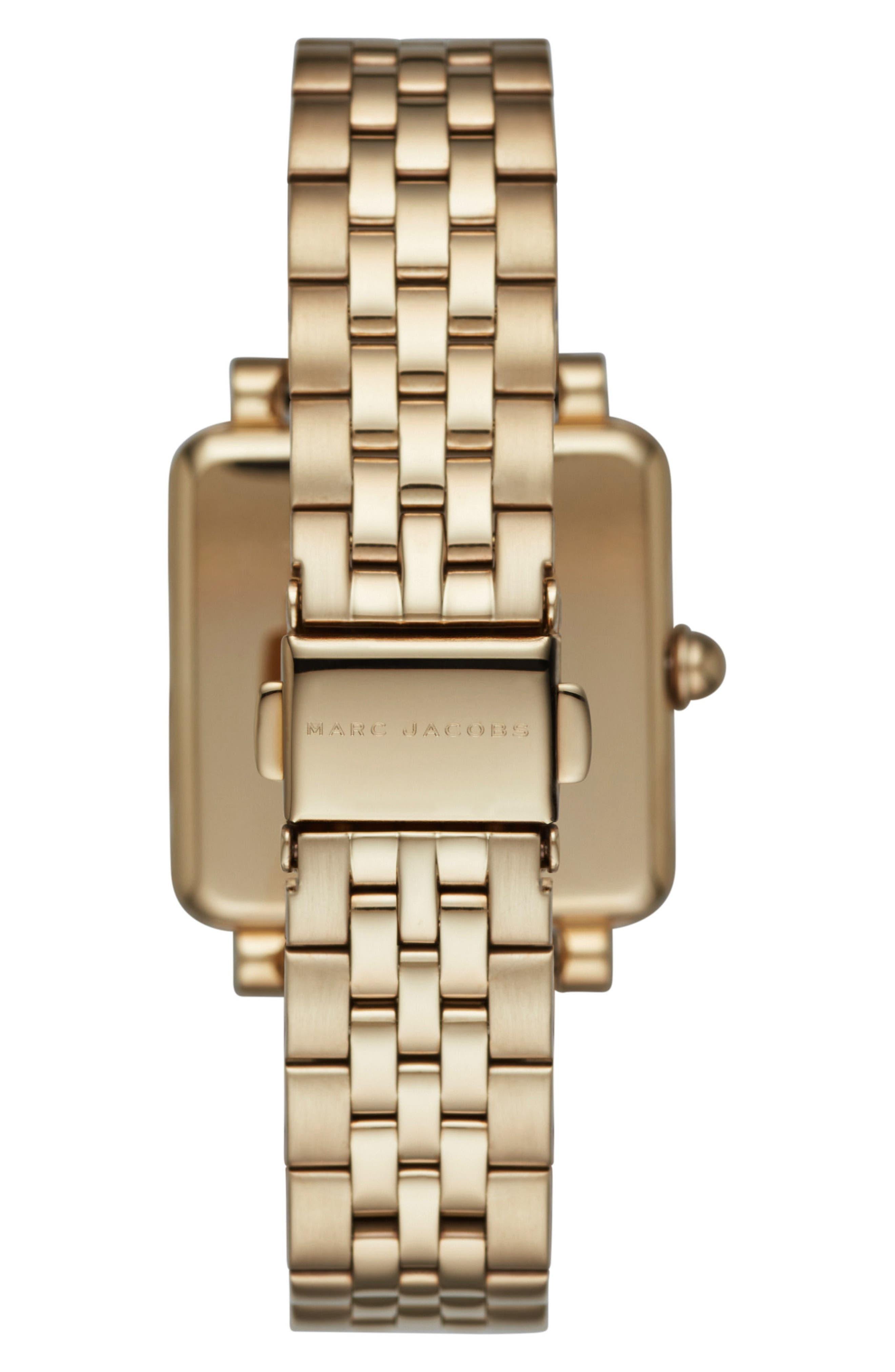Alternate Image 2  - MARC JACOBS Square Vic Bracelet Watch, 30mm