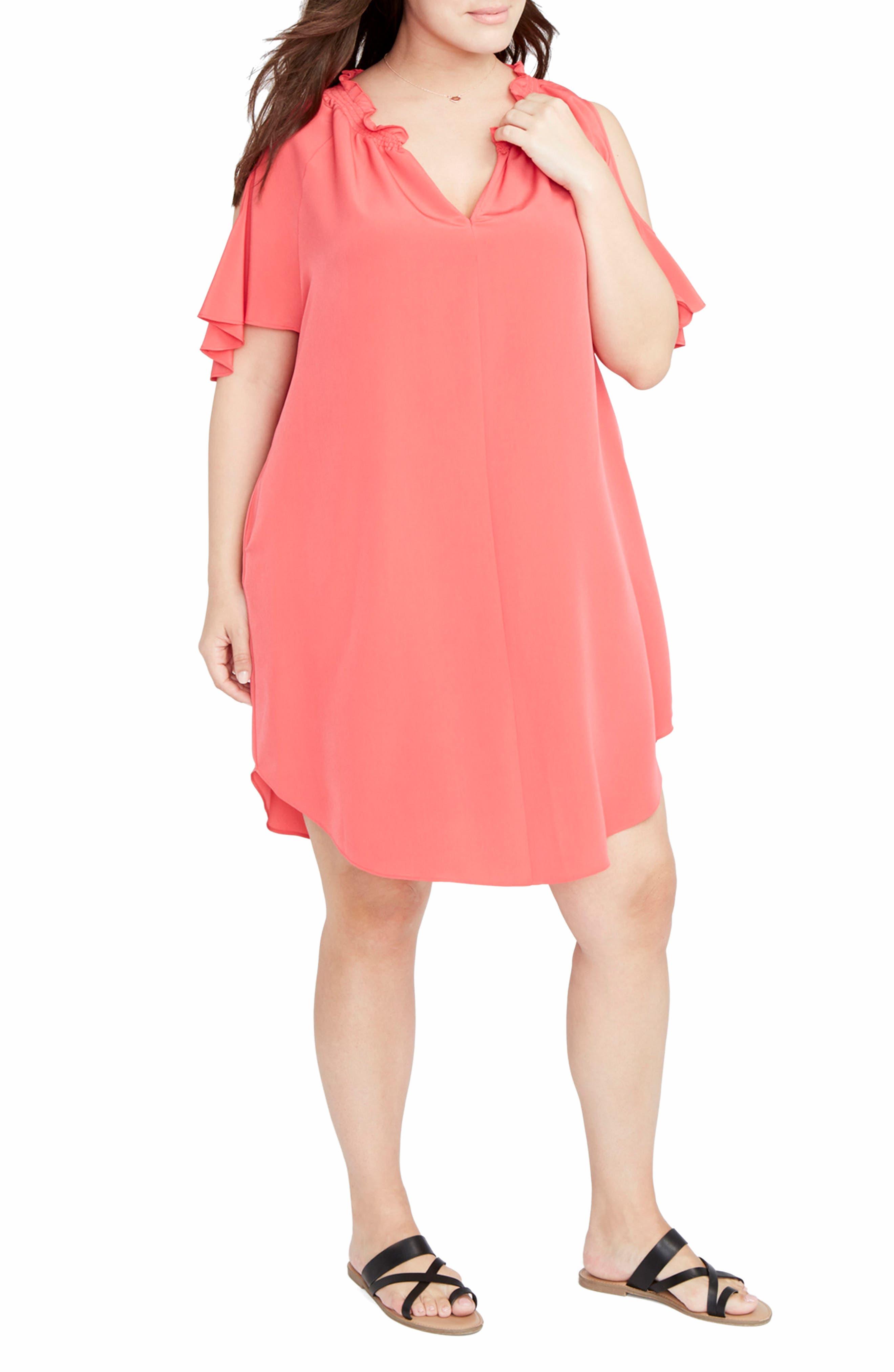 Alternate Image 3  - RACHEL Rachel Roy Elizabeth Cold Shoulder Dress (Plus Size)