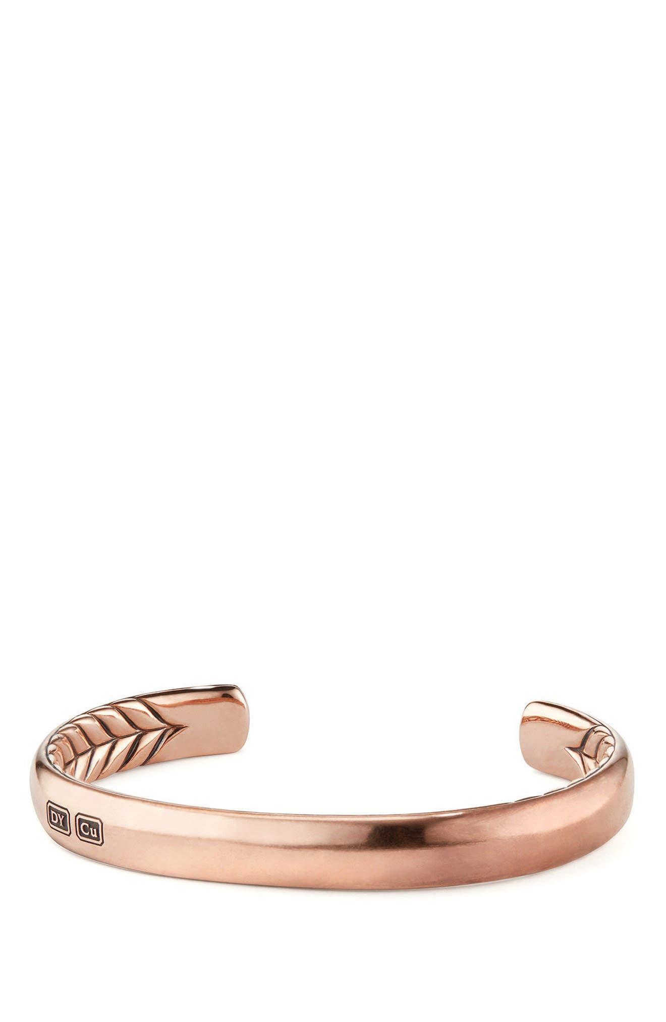 Titian Streamline Cuff Bracelet in Copper,                         Main,                         color, Copper