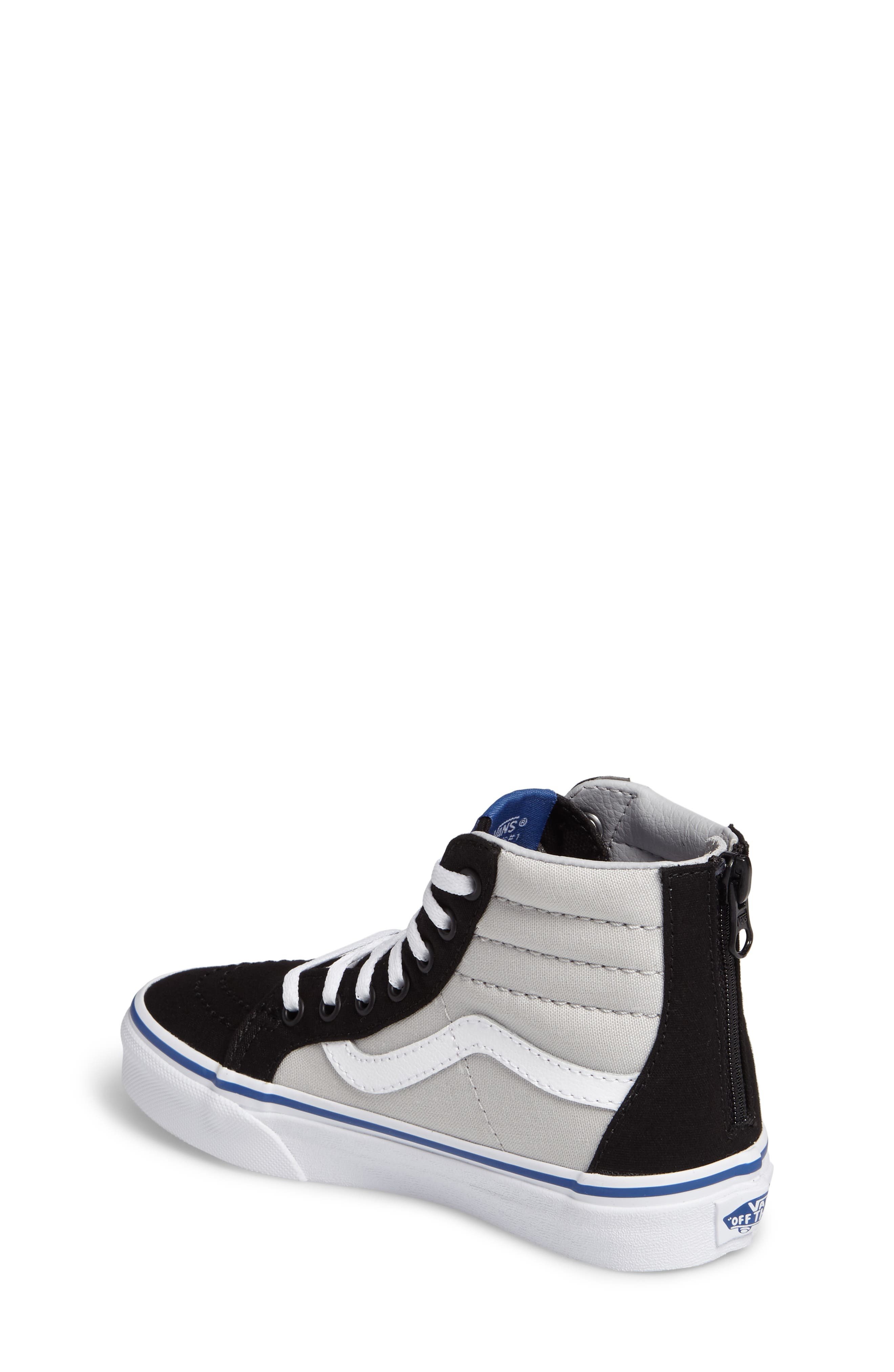 Alternate Image 2  - Vans SK8-Hi Zip Sneaker (Baby, Walker, Toddler, Little Kid & Big Kid)