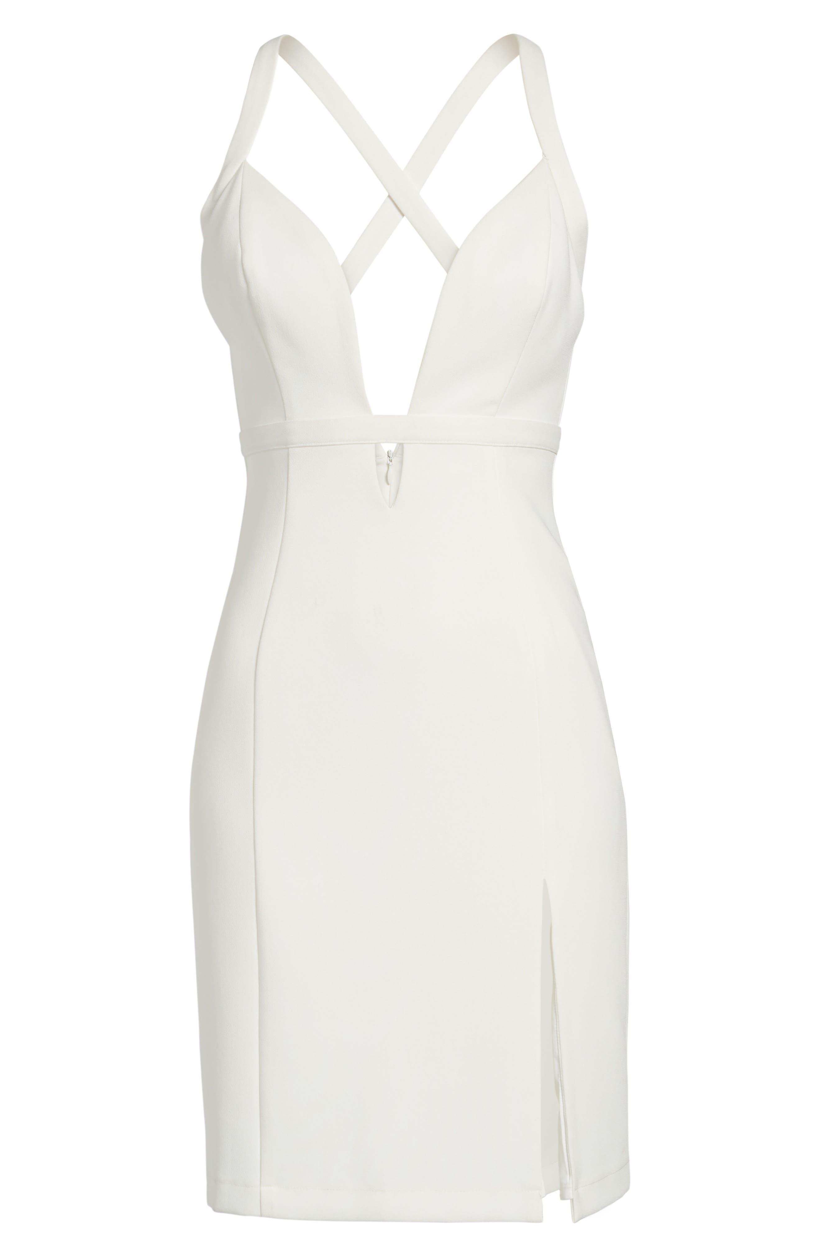 Offense Sheath Dress,                             Alternate thumbnail 6, color,                             Ivory