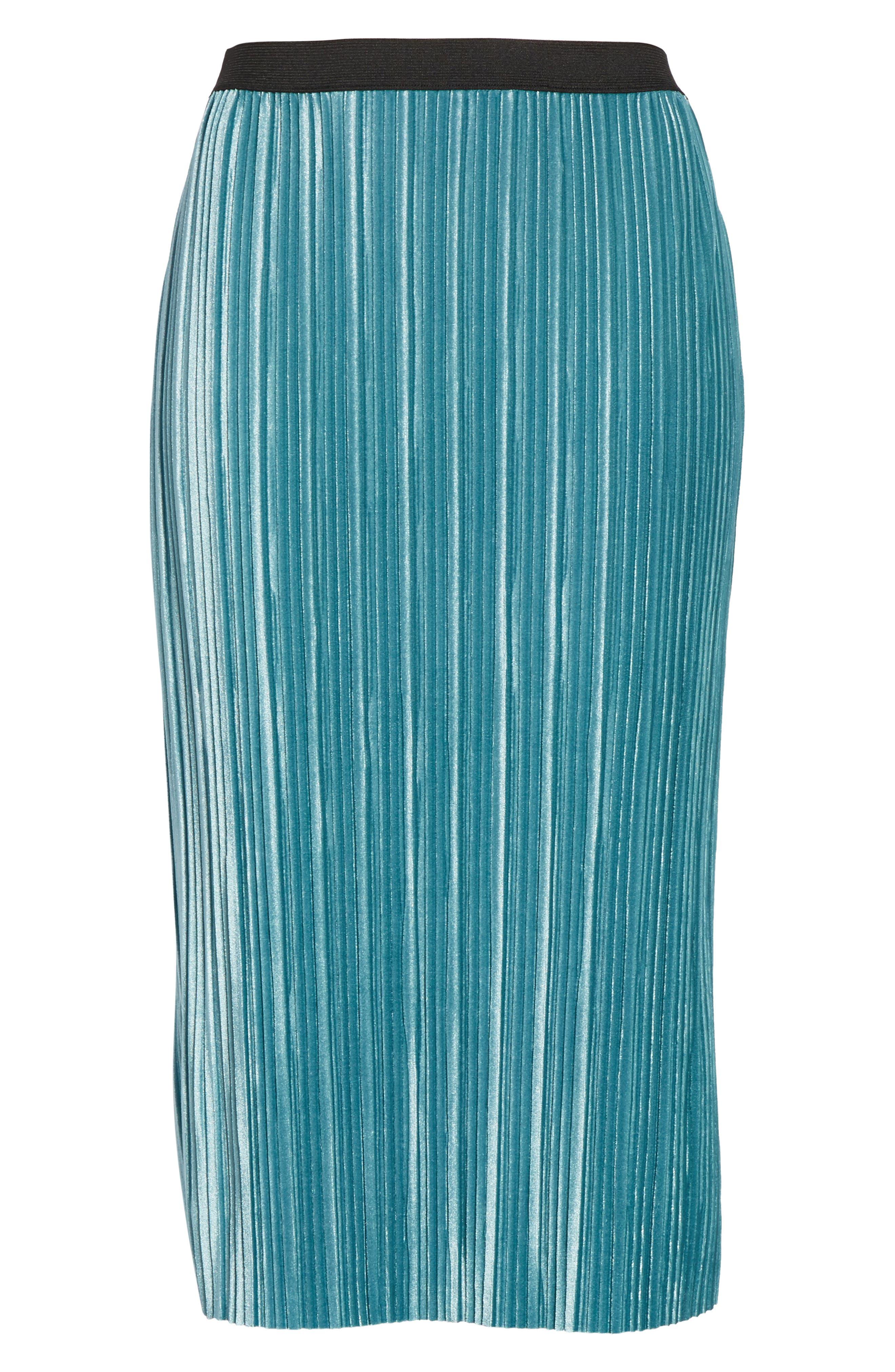 Alternate Image 6  - Leith Velour Pencil Skirt