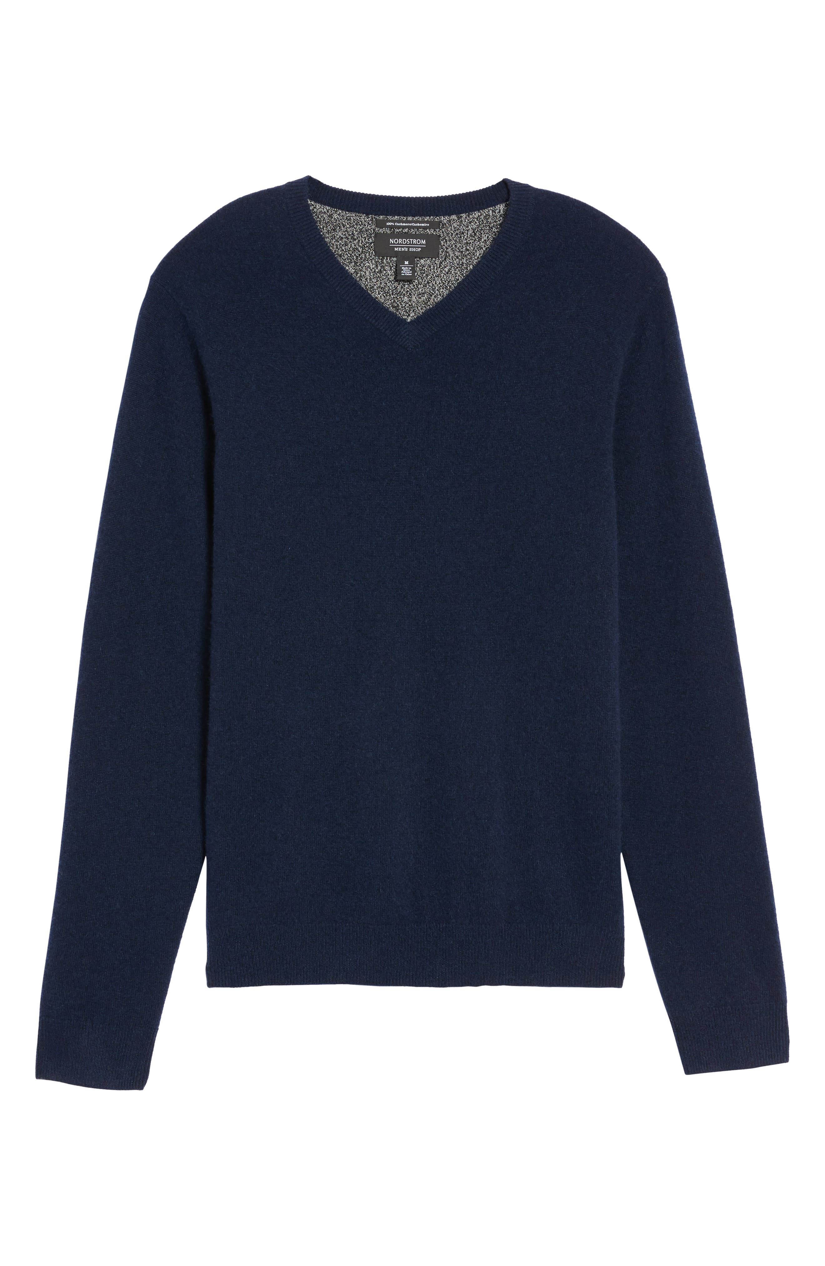 Alternate Image 6  - Nordstrom Men's Shop Cashmere V-Neck Sweater