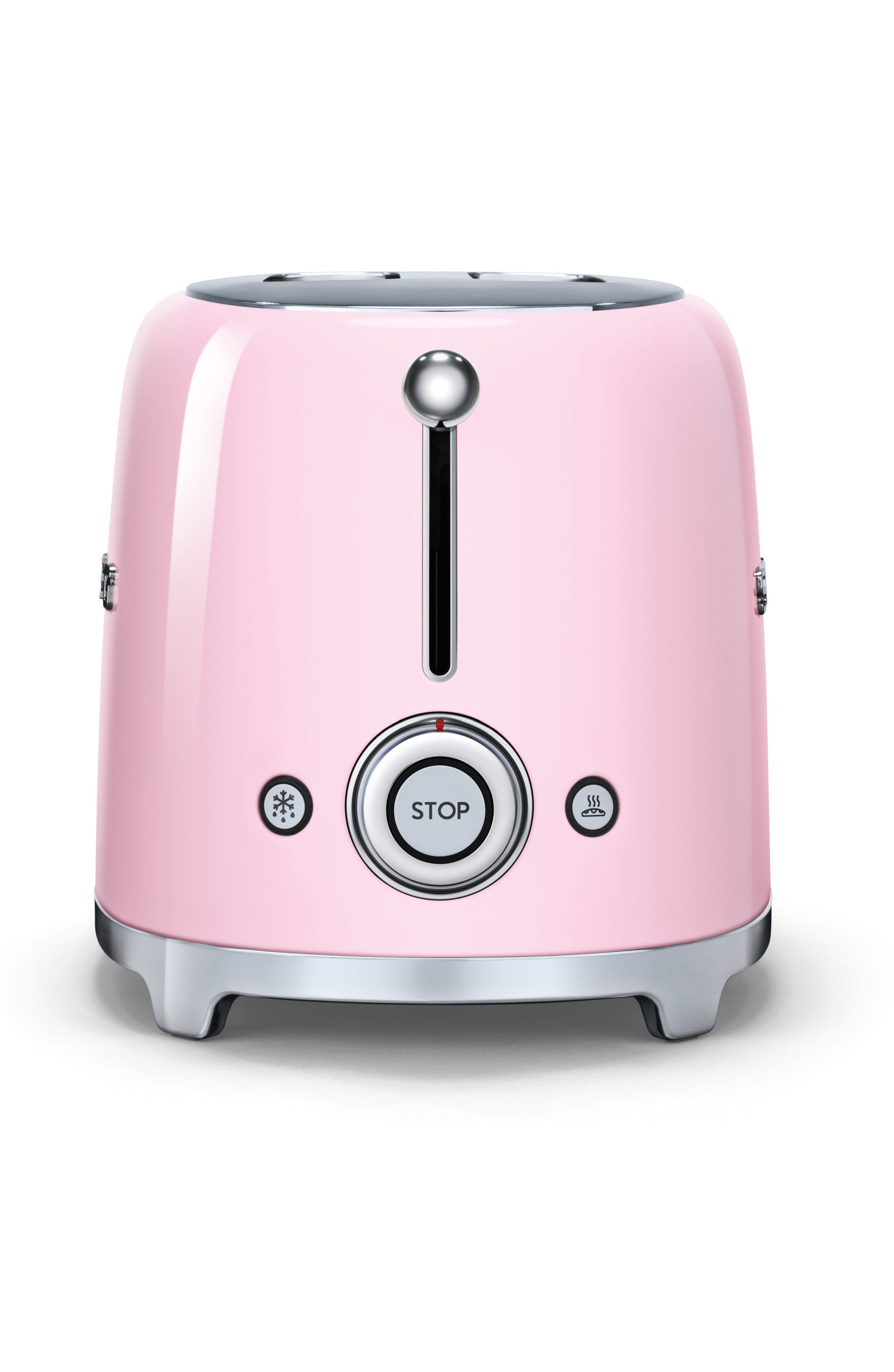 50s Retro Style Two-Slice Toaster,                             Alternate thumbnail 2, color,                             Pink