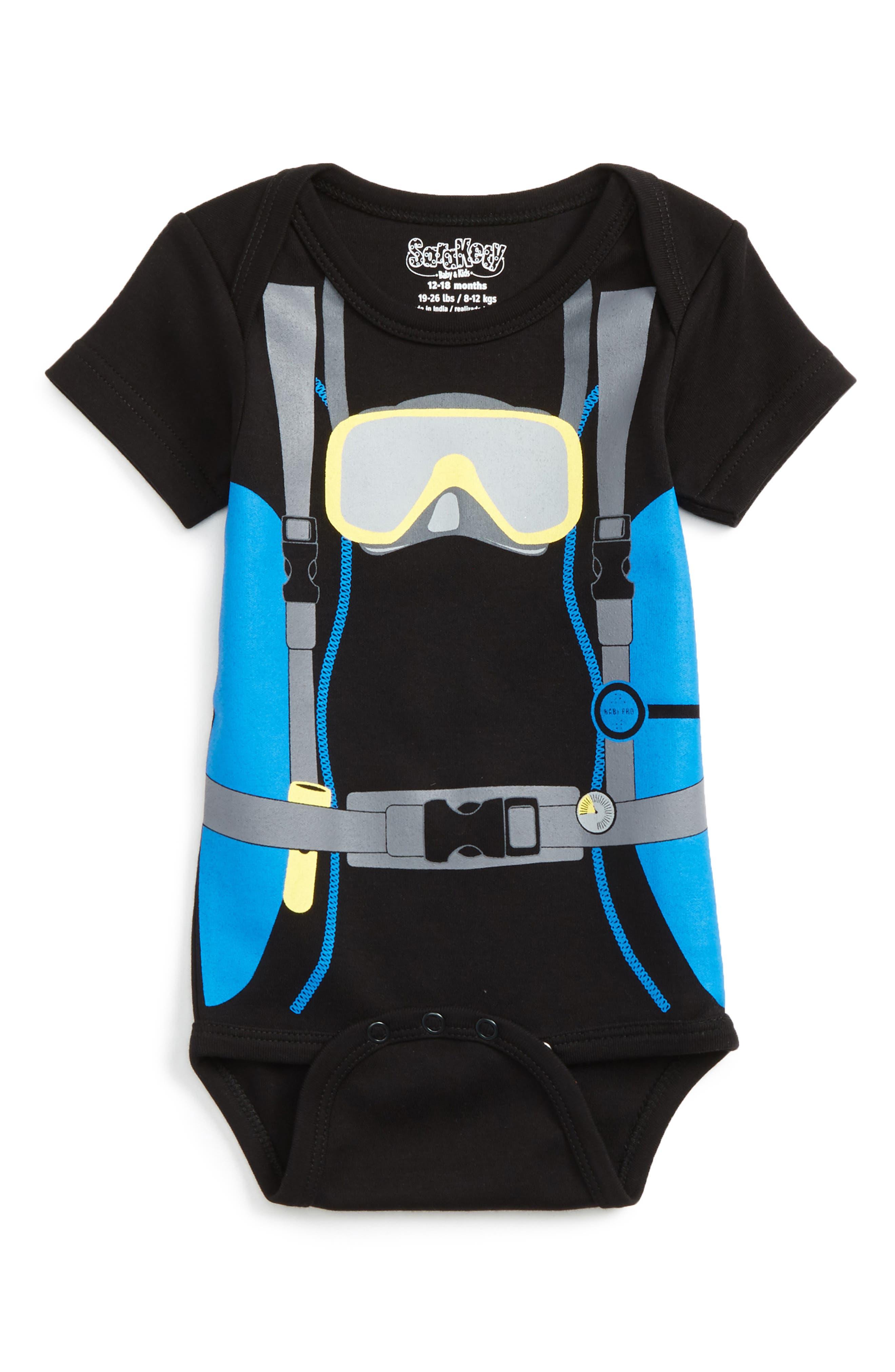 Alternate Image 1 Selected - Sara Kety Baby & Kids Scuba Boy Bodysuit (Baby Boys)