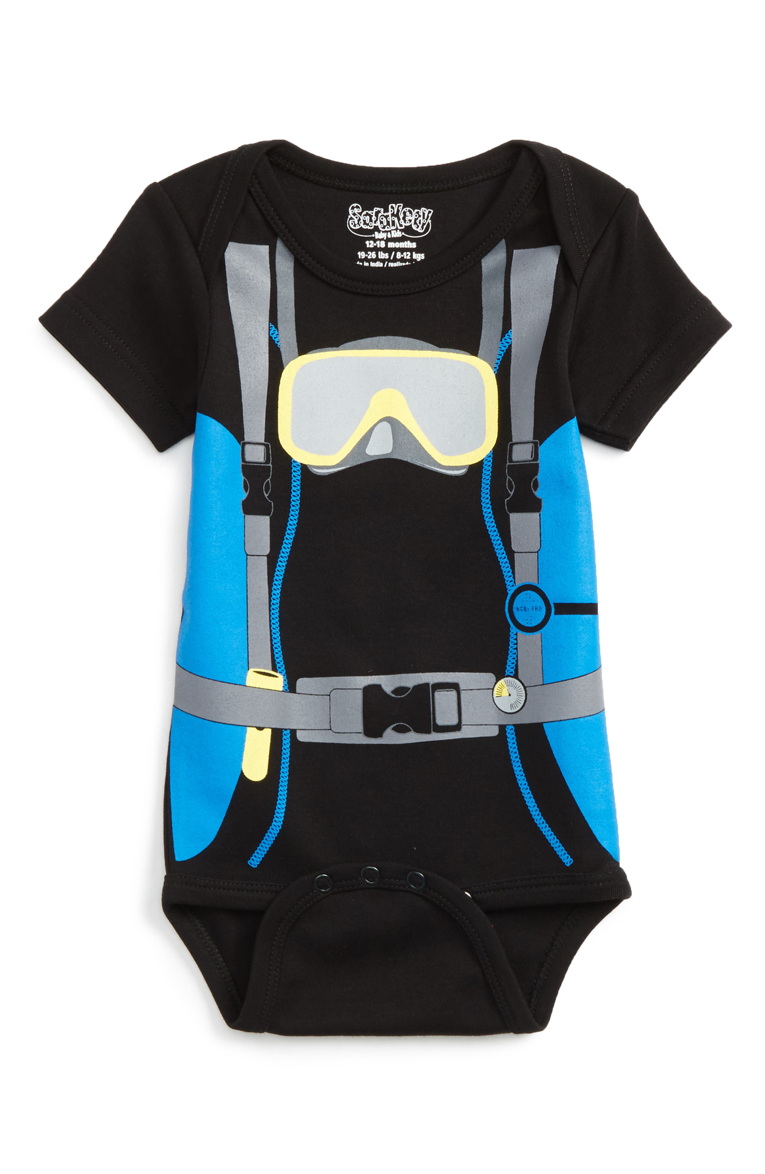 Main Image - Sara Kety Baby & Kids Scuba Boy Bodysuit (Baby Boys)