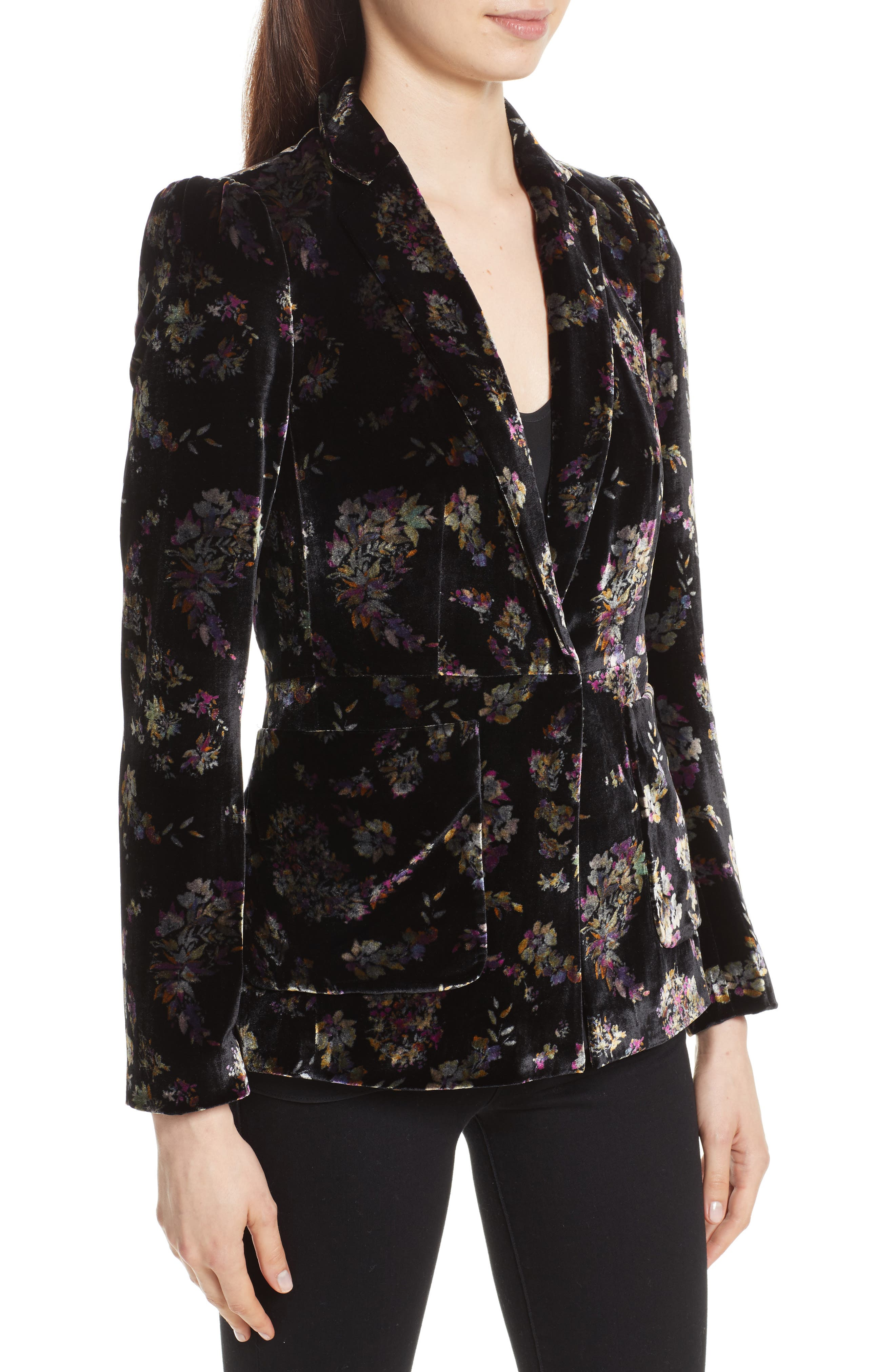 Alternate Image 4  - Rebecca Taylor Jewel Velvet Blazer