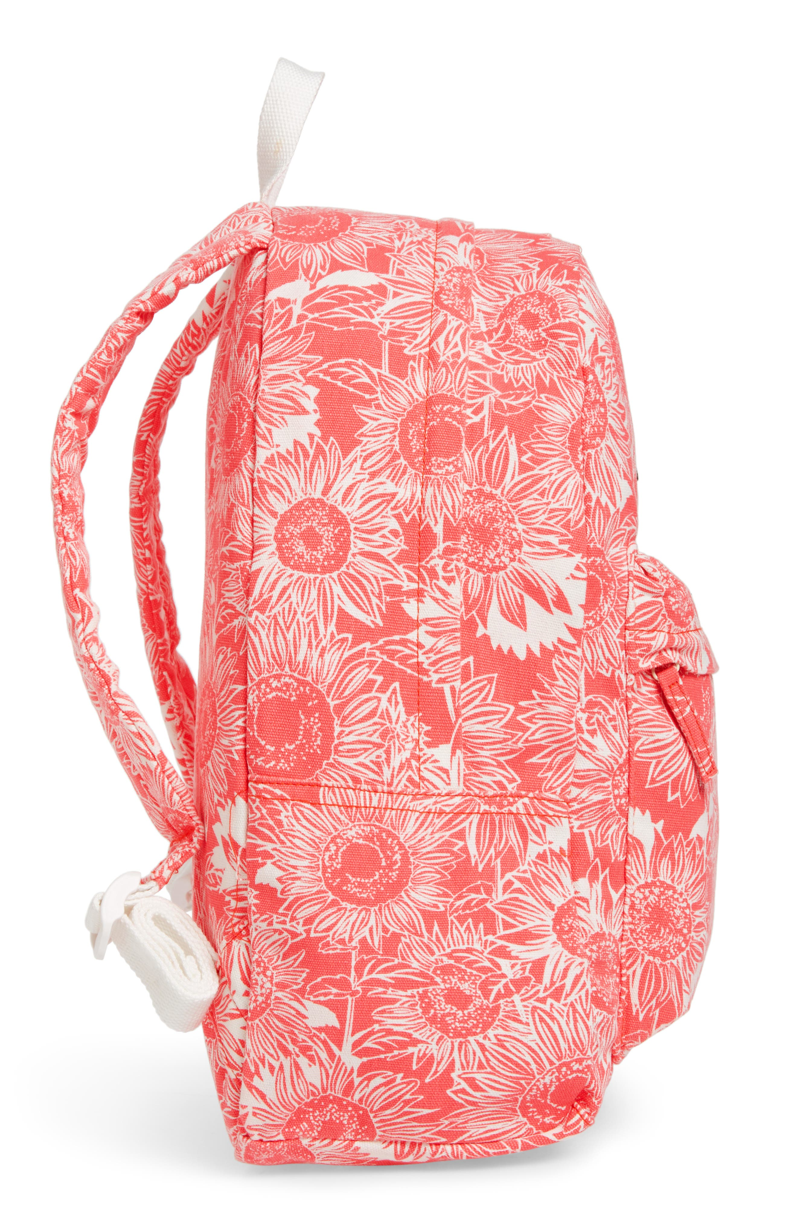 Play Date Canvas Backpack,                             Alternate thumbnail 3, color,                             Vintage Coral