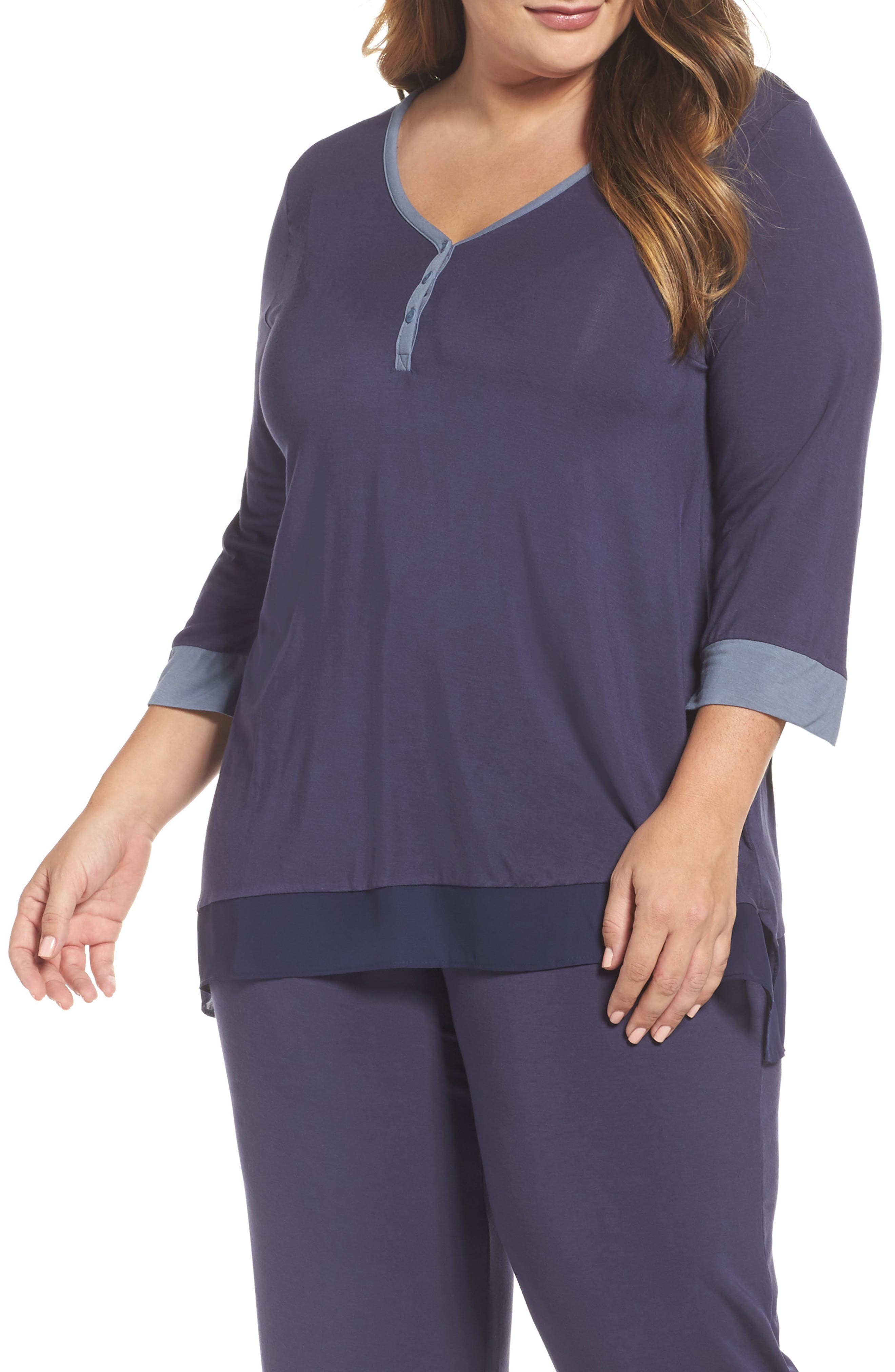 DKNY Stretch Modal Top (Plus Size)