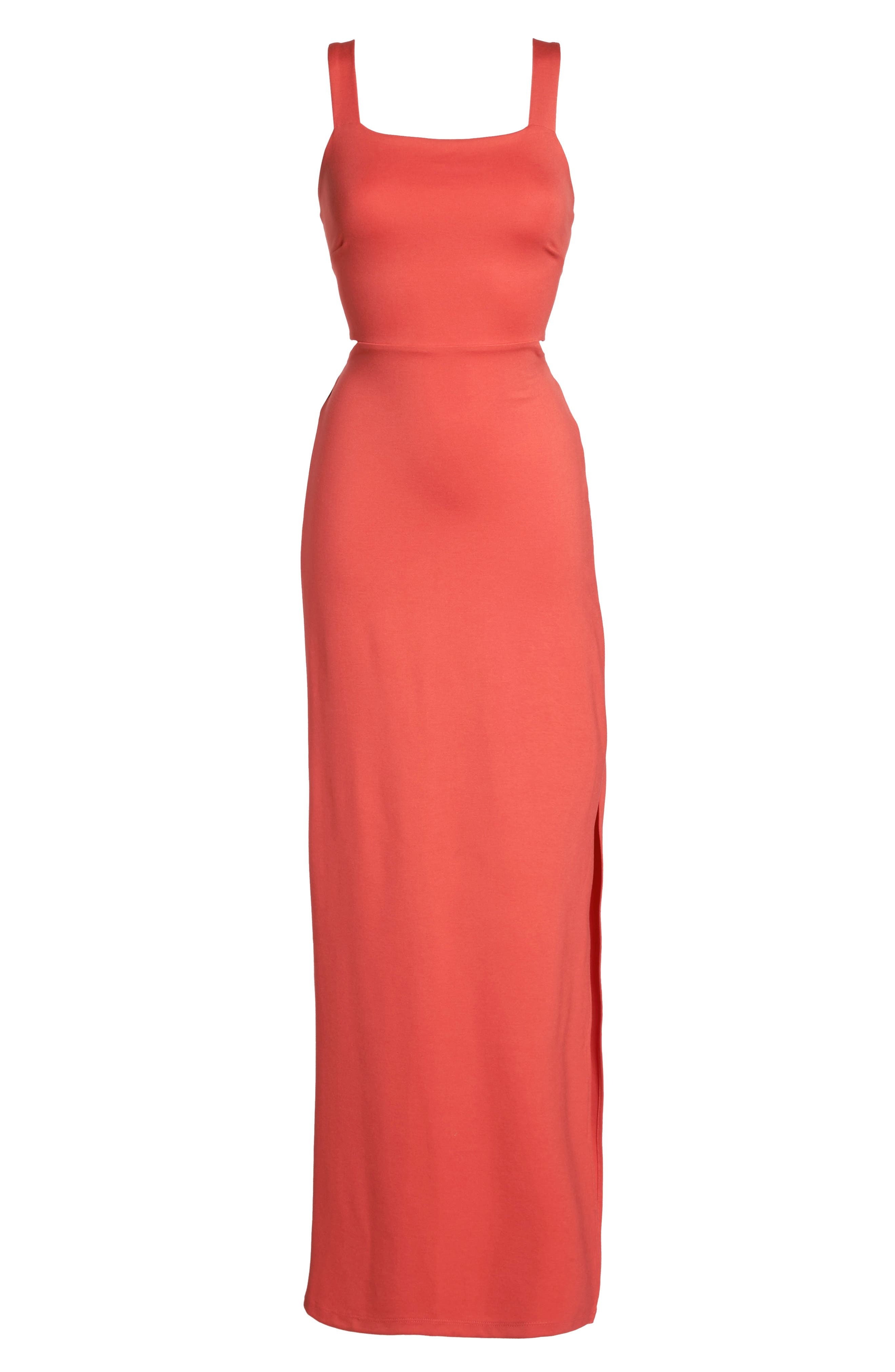 Maxi Dress,                             Alternate thumbnail 6, color,                             Coral