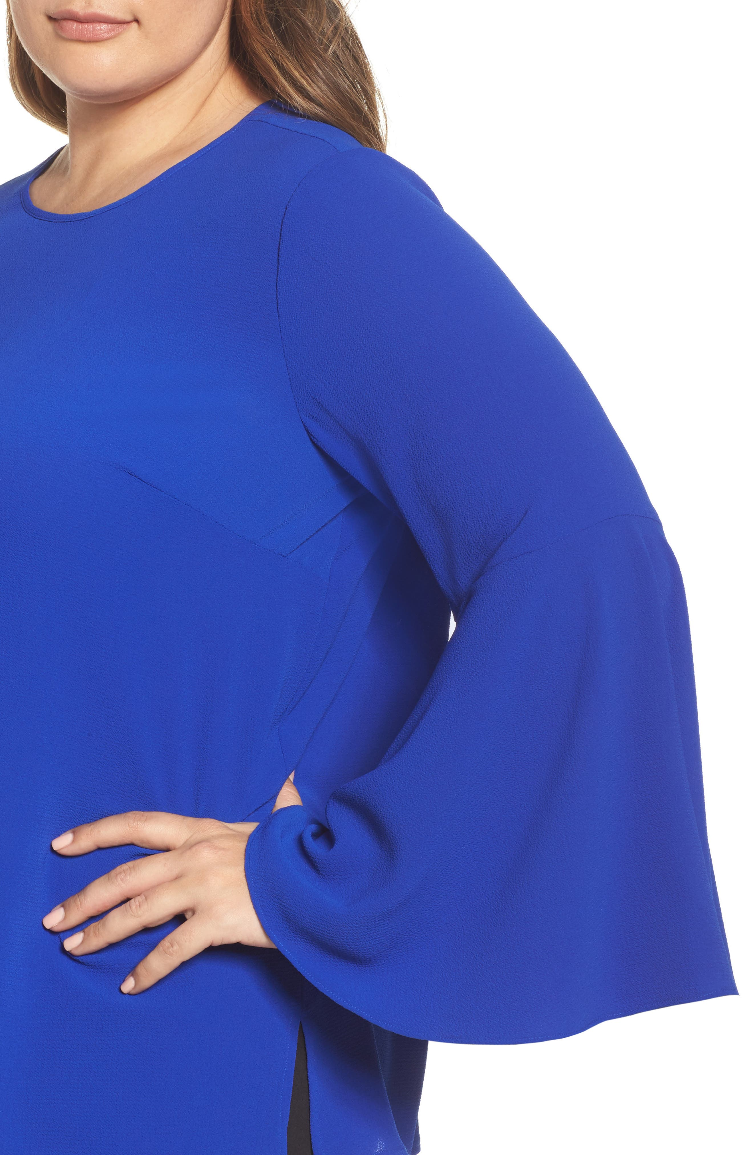 Alternate Image 4  - Vince Camuto Bell Sleeve Blouse (Plus Size)