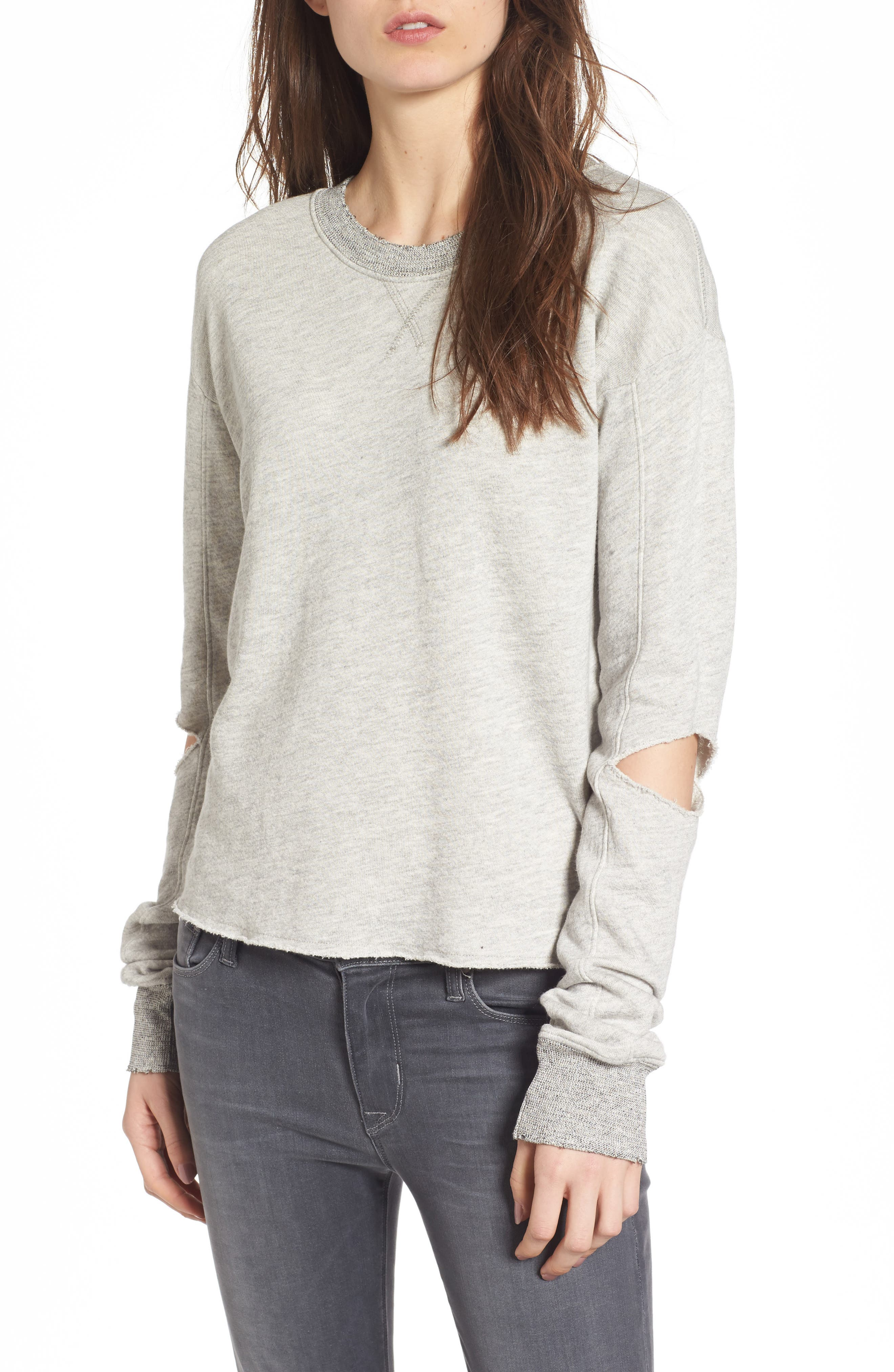 Savannah Cutout Sweatshirt,                         Main,                         color, Heather Grey