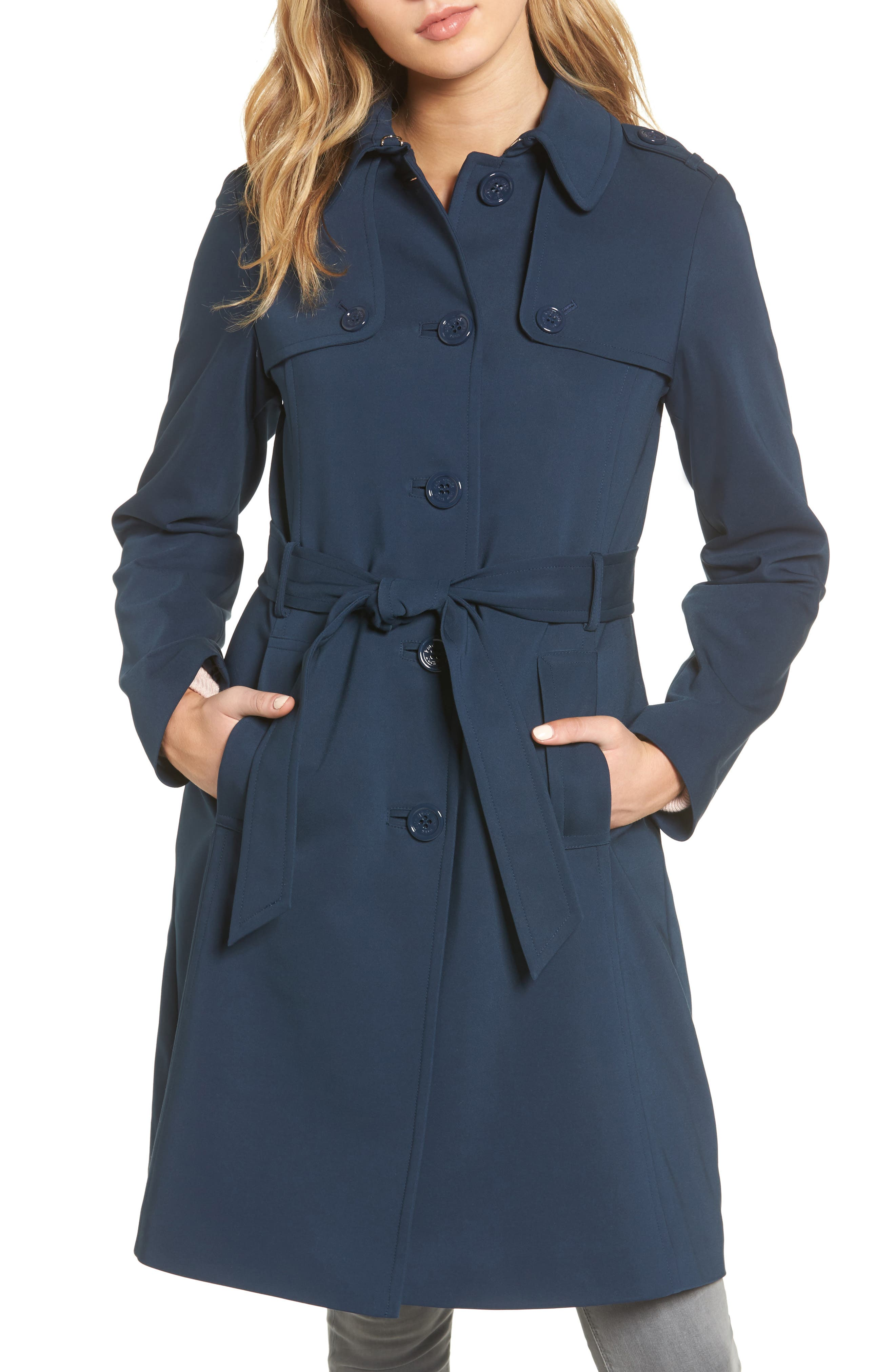 3-in-1 trench coat,                         Main,                         color, Rich Navy