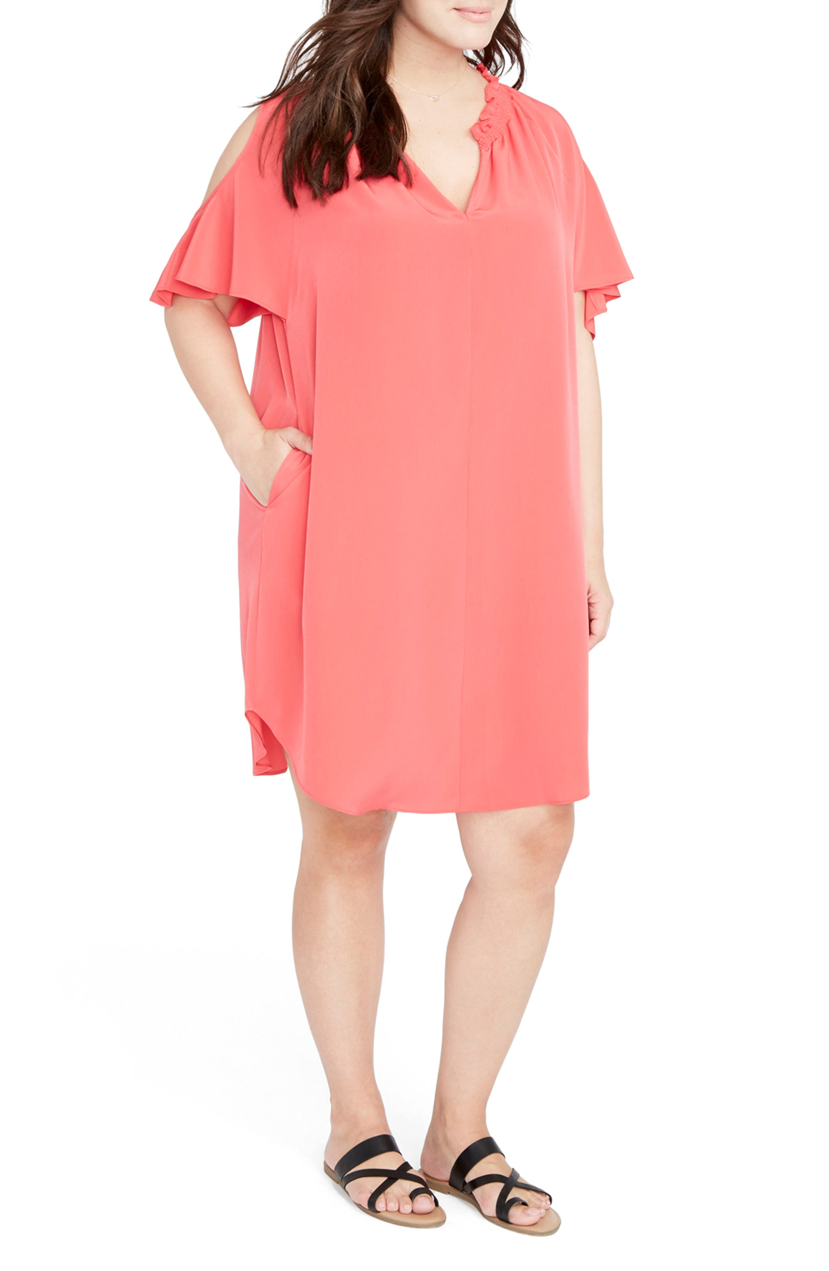 Main Image - RACHEL Rachel Roy Elizabeth Cold Shoulder Dress (Plus Size)