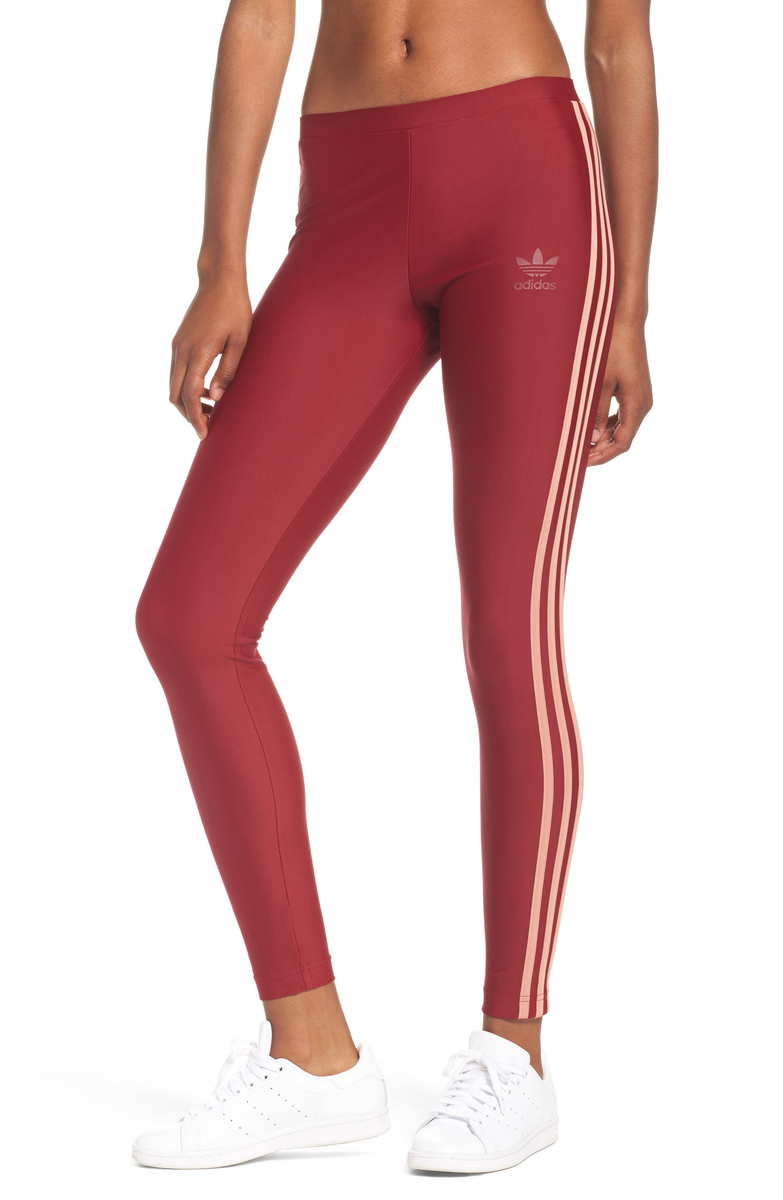 Originals Leggings,                         Main,                         color, Collegiate Burgundy