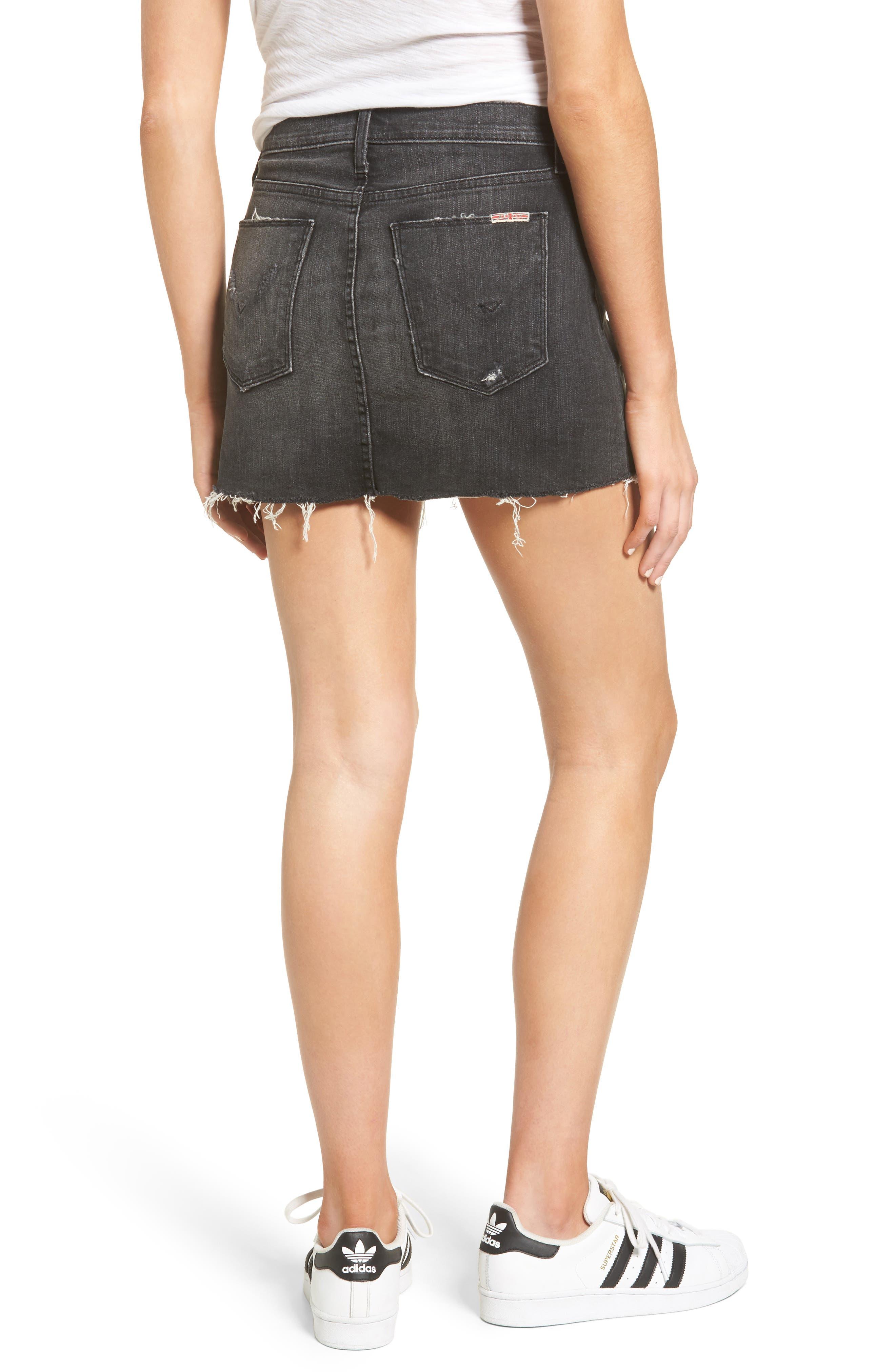 Hudson Vivid Cutoff Denim Miniskirt,                             Alternate thumbnail 2, color,                             Pretender