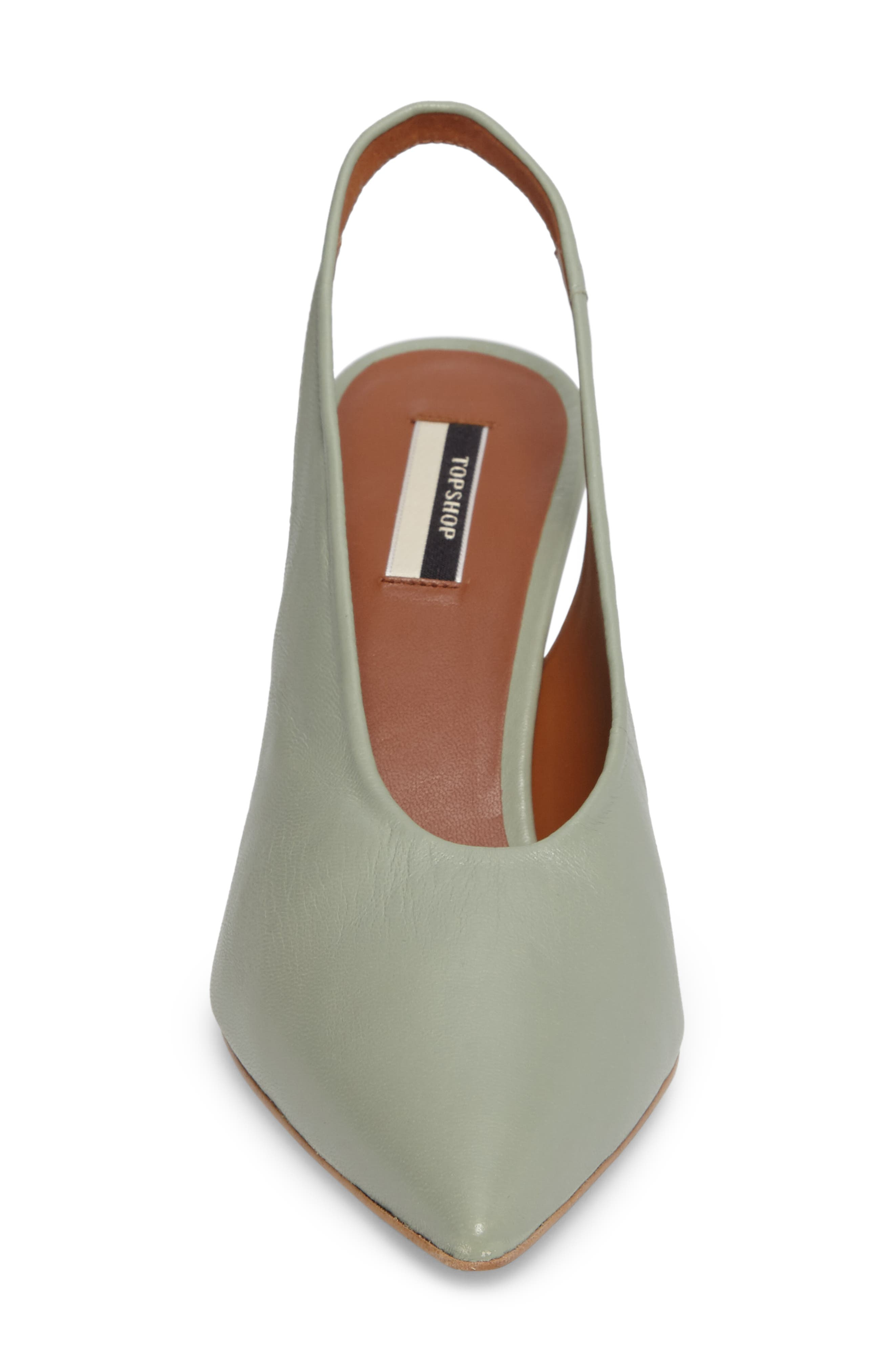 Jemma Slingback Pointy-Toe Pump,                             Alternate thumbnail 4, color,                             Green