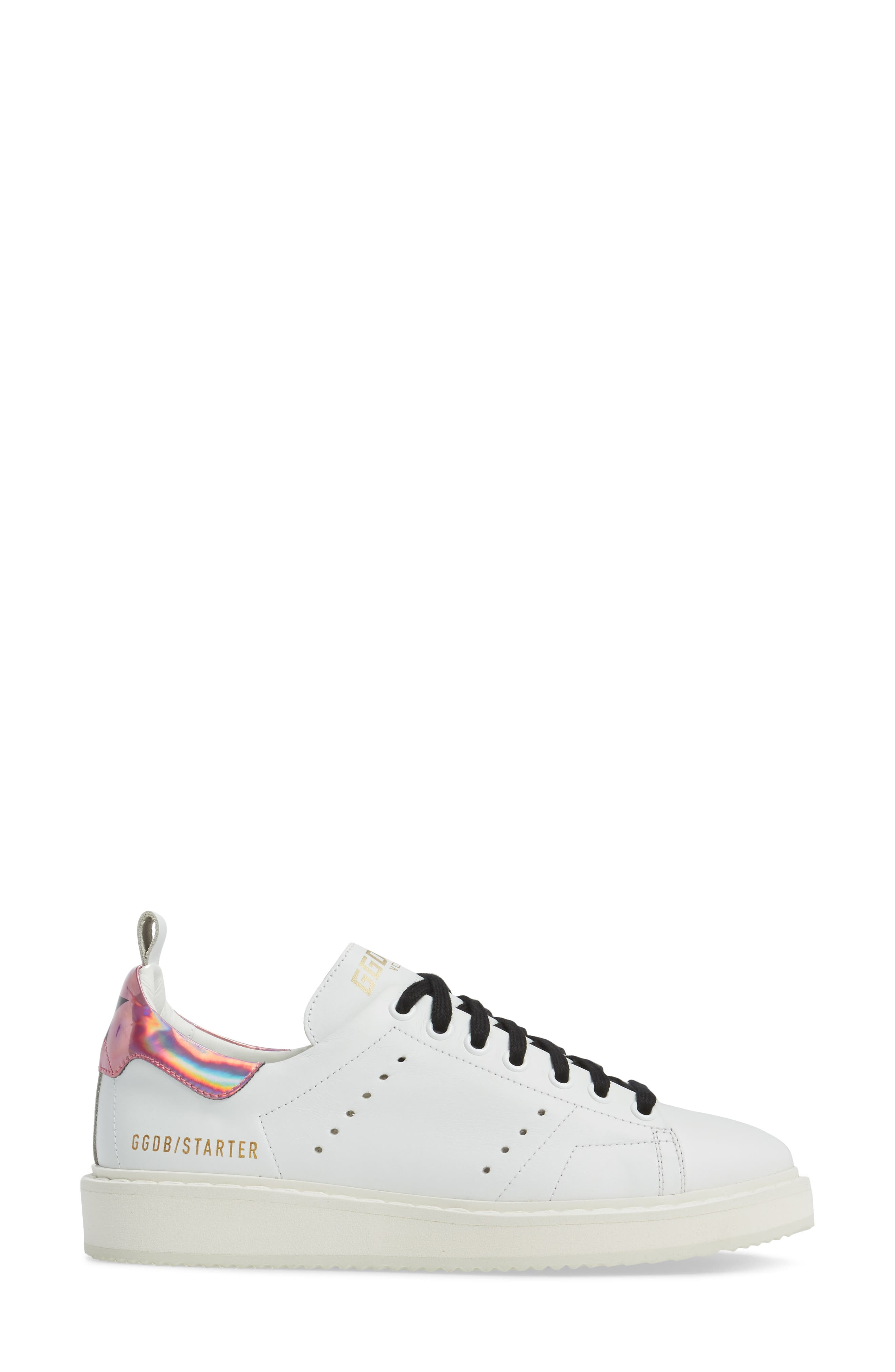 Starter Low Top Sneaker,                             Alternate thumbnail 3, color,                             White/ Pink Jelly