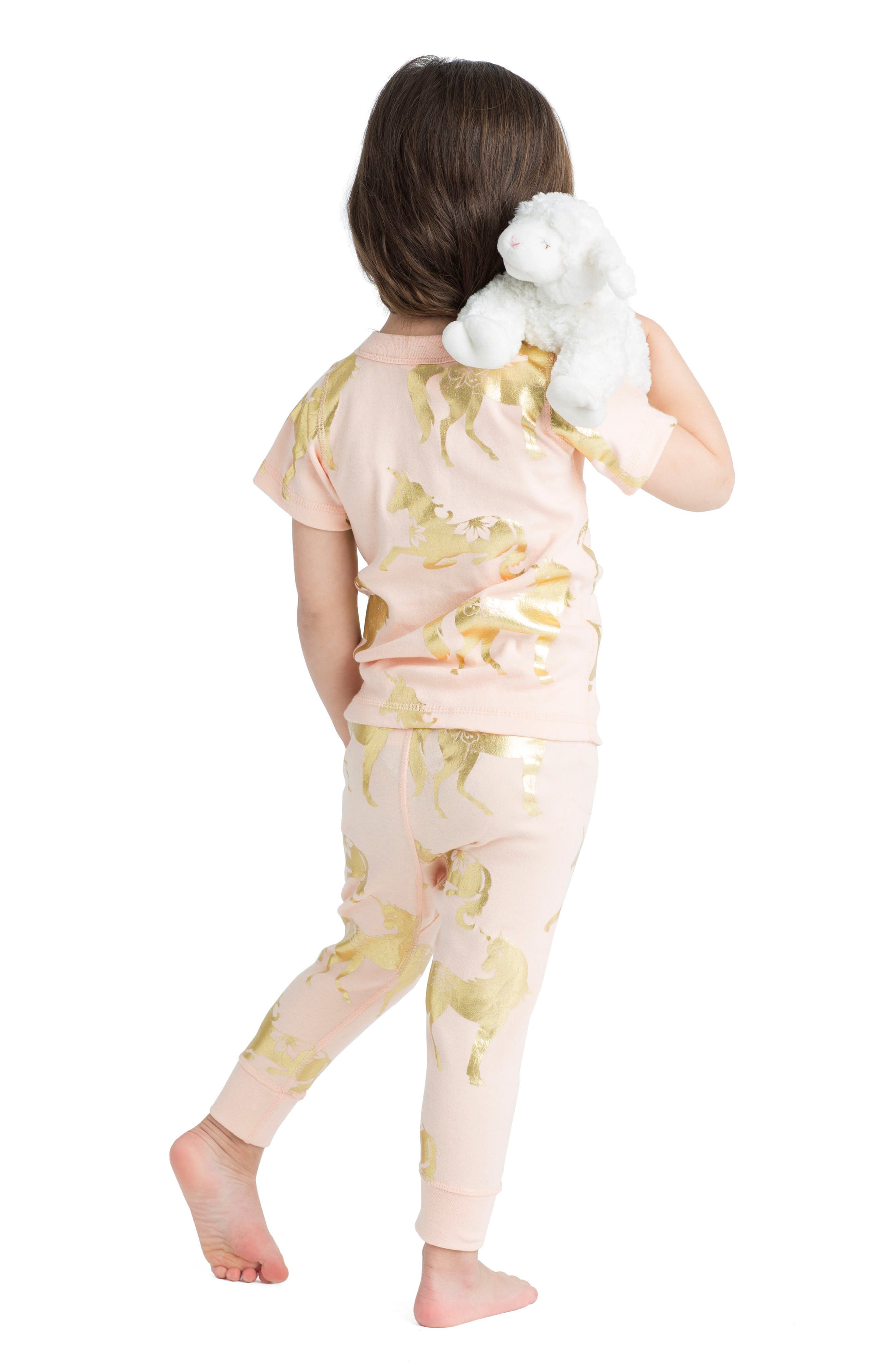 Alternate Image 3  - Masalababy Unicorn Organic Cotton Fitted Two-Piece Pajamas (Baby Girls)