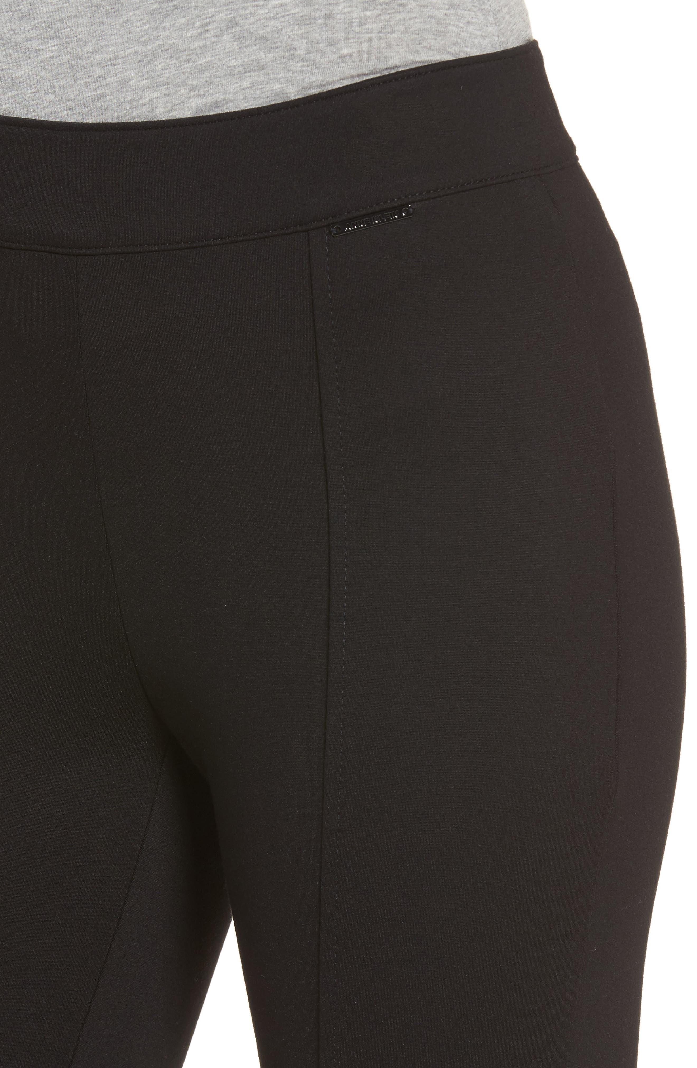 Compression Slim Leg Pants,                             Alternate thumbnail 4, color,                             Black