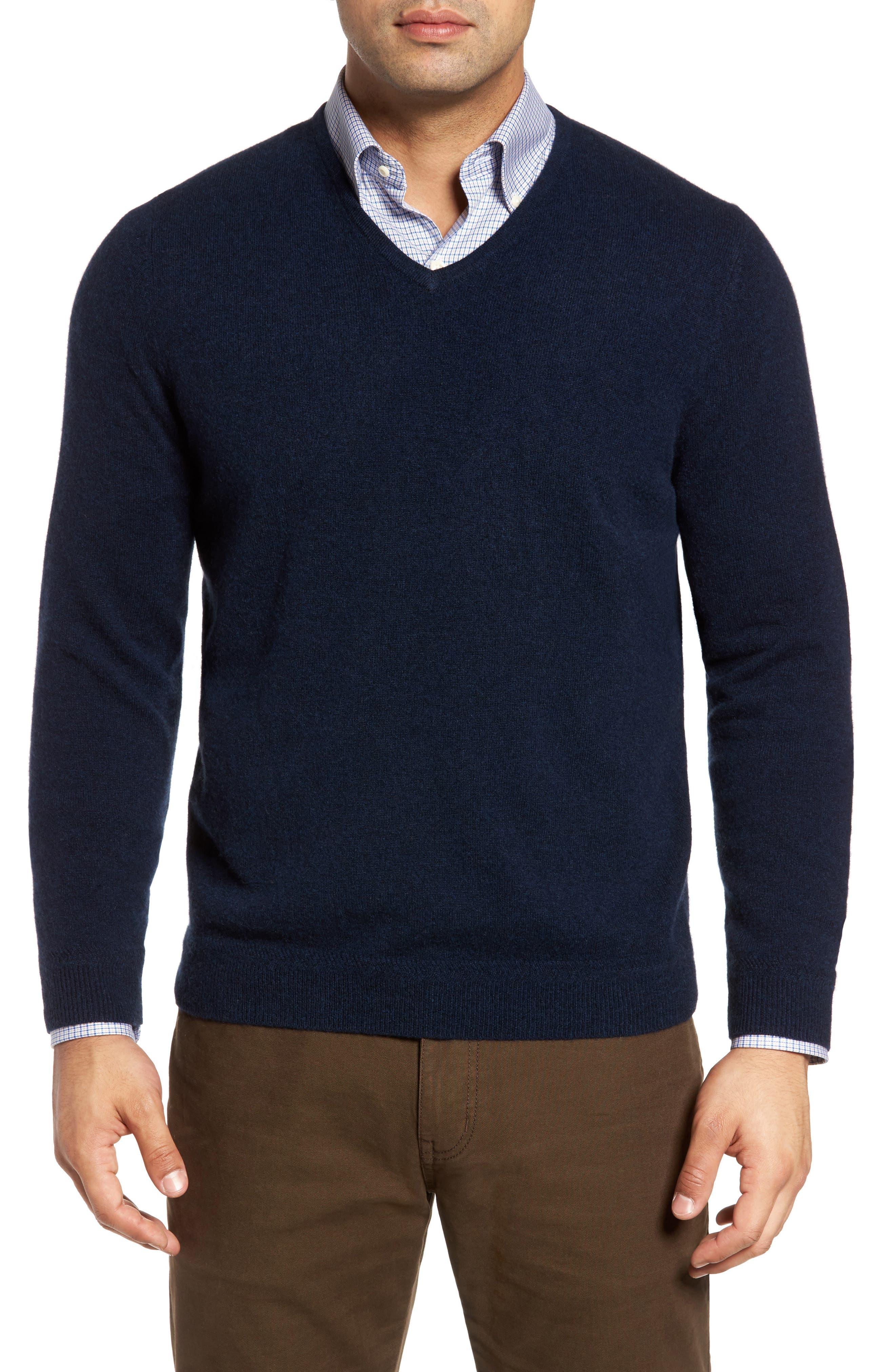 John W. Nordstrom Cashmere V-Neck Sweater (Regular & Tall)